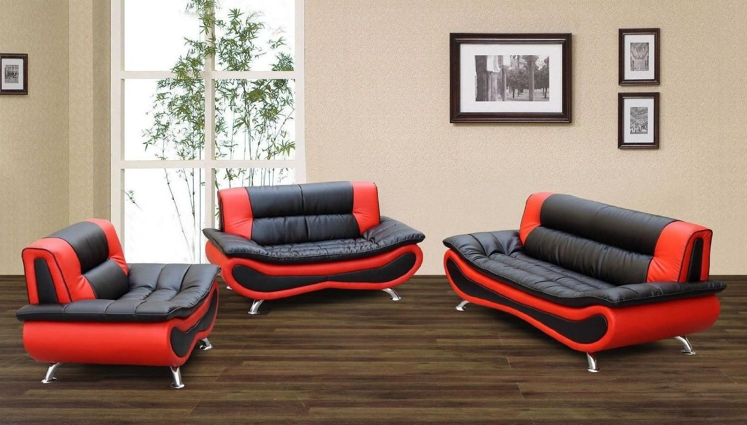Red And Black Leather Sofa 70 With Red And Black Leather Sofa With Black And Red Sofas (Image 15 of 20)