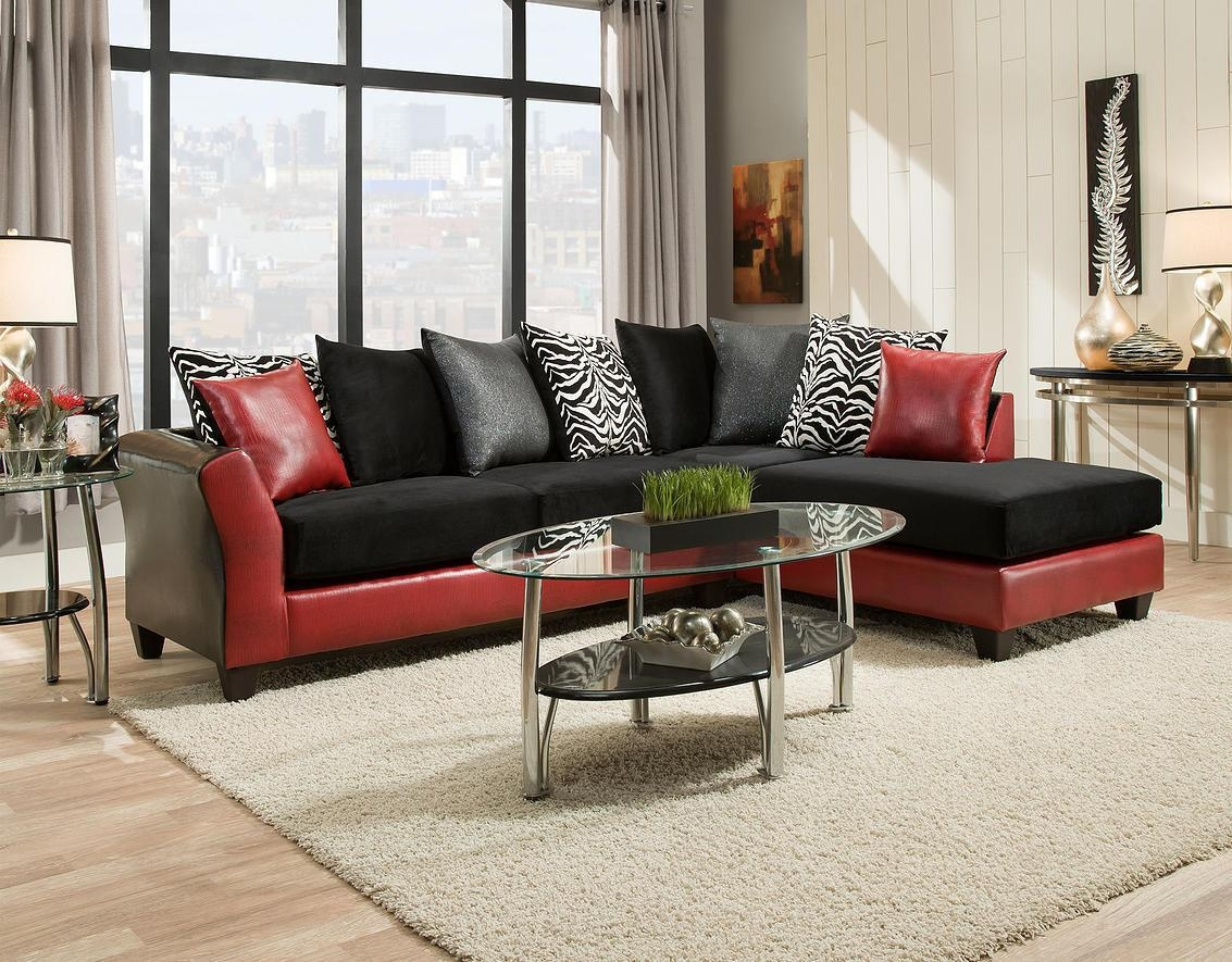 20 photos red black sectional sofa sofa ideas. Black Bedroom Furniture Sets. Home Design Ideas