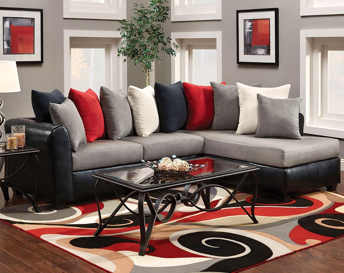 Red And Black Sectional Sofa | Rockdov Home Design Throughout Red Black Sectional Sofa (Image 11 of 20)