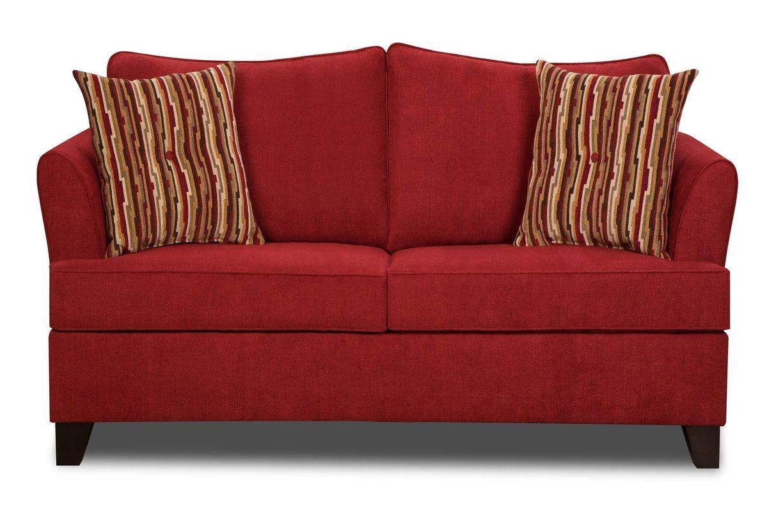 Red Barrel Studio Simmons Upholstery Antin Loveseat Sleeper Sofa Intended For Simmons Leather Sofas (Image 5 of 20)