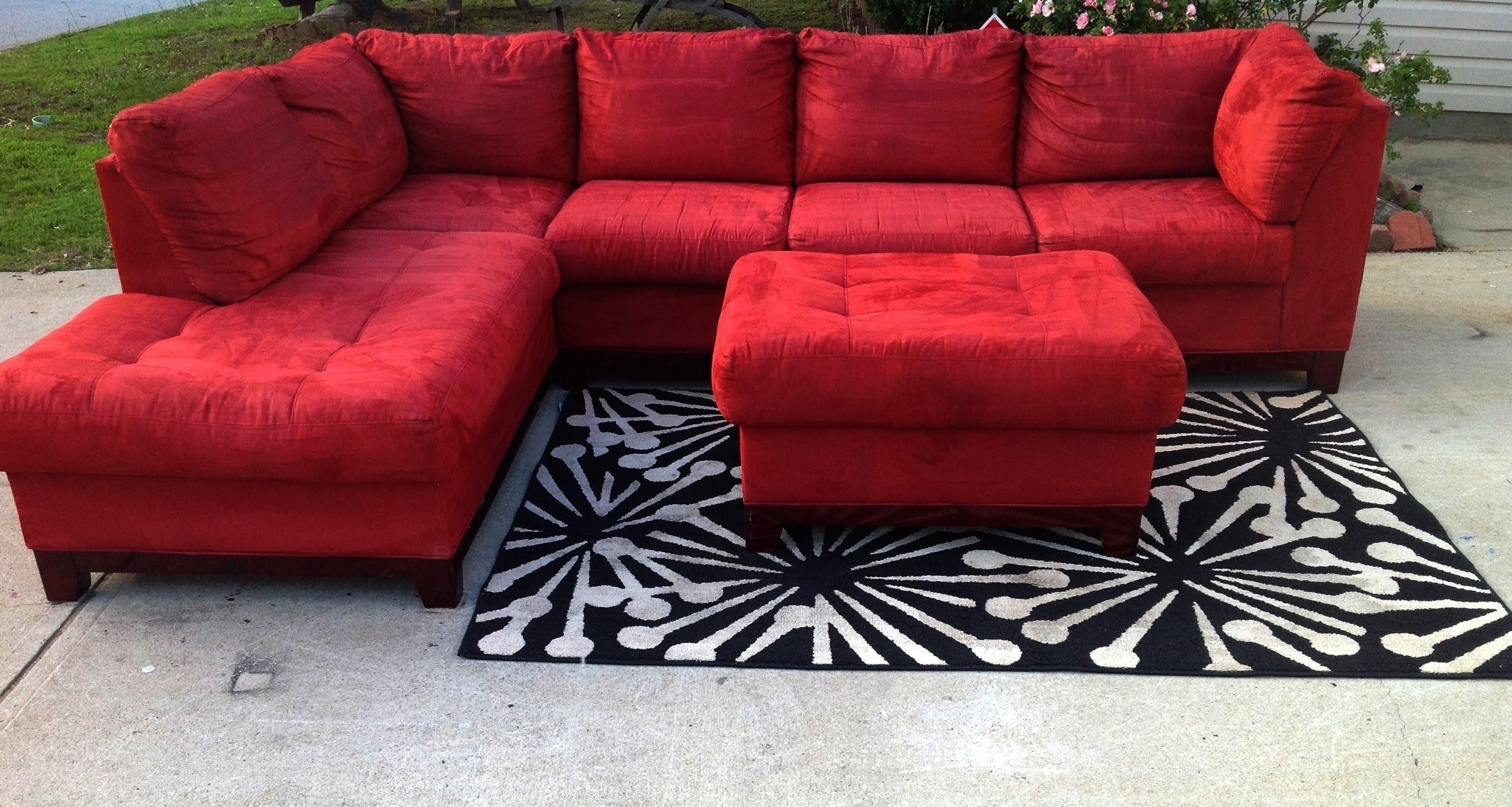 Red Cindy Crawford Stlye Sectional 475 – Youtube For Cindy Crawford Sleeper Sofas (View 16 of 20)
