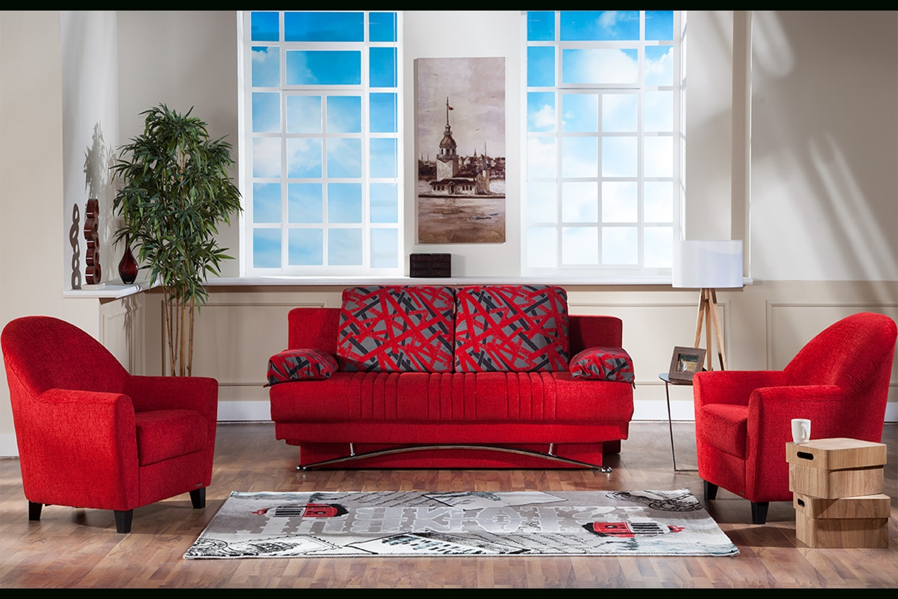 Red Futon Couch | Fantasy Contemporary Sofa Sleeper | The Futon Shop With Regard To Red Sleeper Sofa (Image 14 of 20)