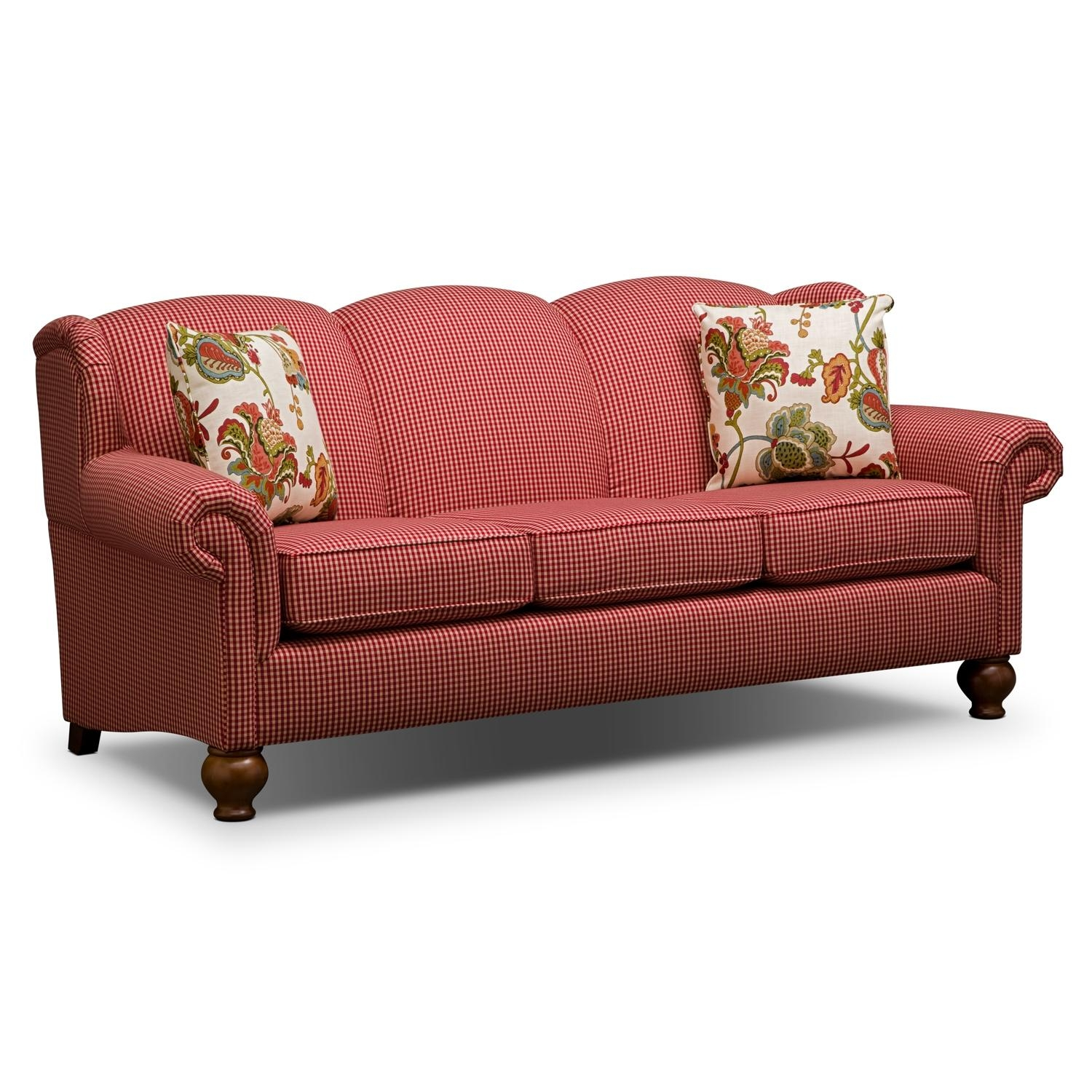 Red Gingham Sofa Throughout Gingham Sofas (View 2 of 20)