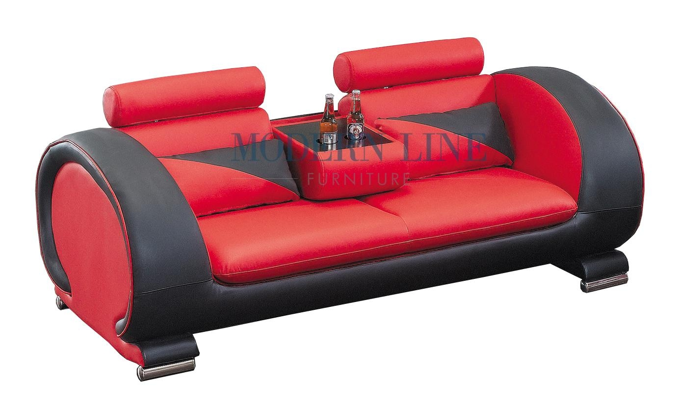 Black And Red Leather Sofa Set 2811 Black And White Bonded Leather Sofa Set Thesofa