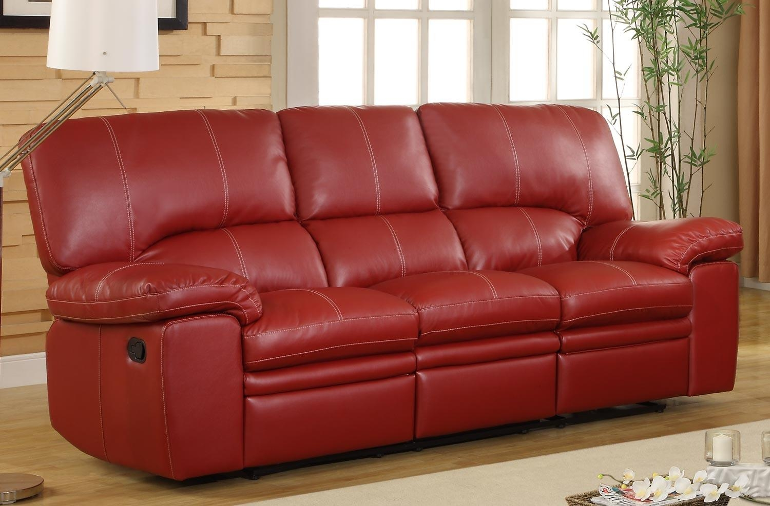 Red Leather Sofa. Leather Sofa.  (Image 17 of 20)