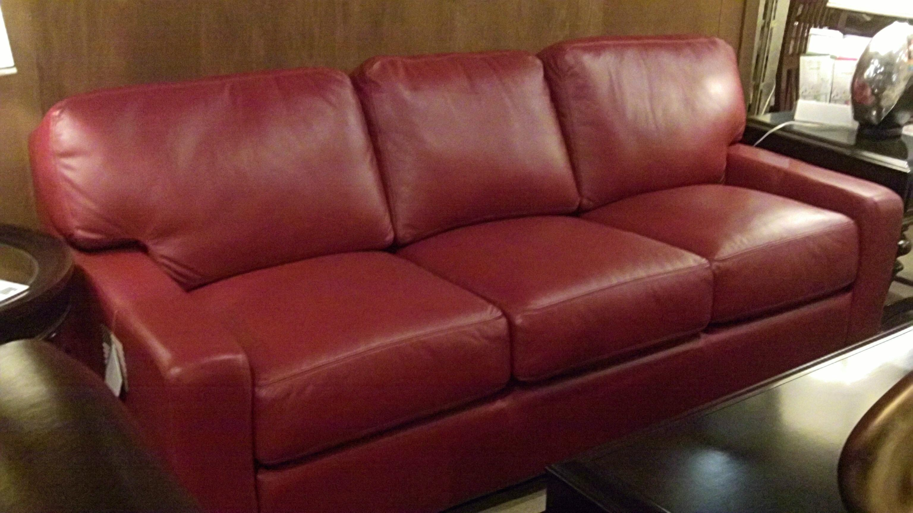 Red Leather Sofa Living Room Ideas U2013 Creditrestore Throughout Dark Red  Leather Sofas (Image 15