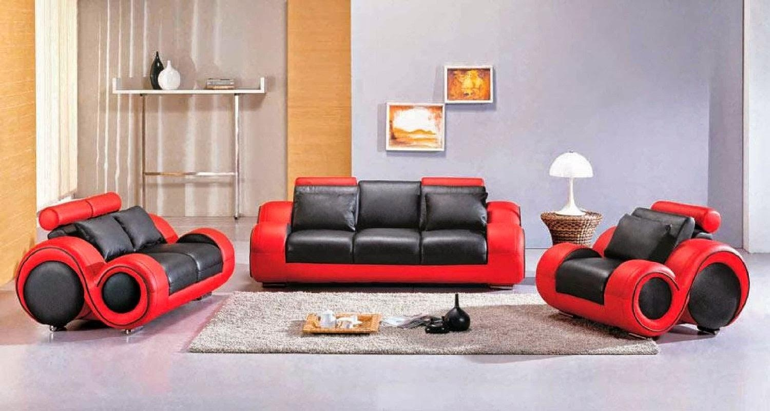 Red Leather Sofa: Red And Black Leather Sofa With Black And Red Sofa Sets (Image 14 of 20)