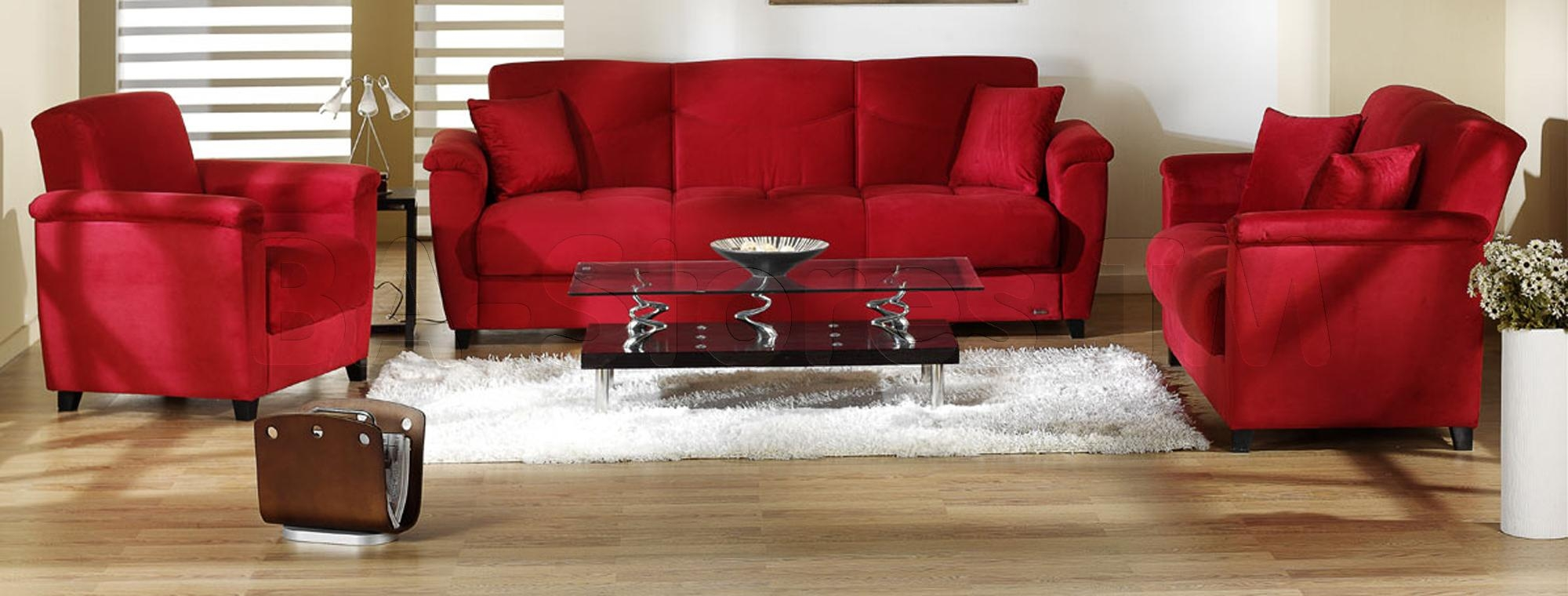 Red Living Room Sets – Living Room Throughout Red Sofas And Chairs (Image 12 of 20)