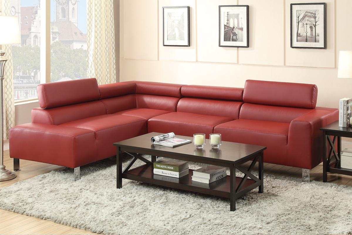 Red Metal Sectional Sofa – Steal A Sofa Furniture Outlet Los With Burgundy Sectional Sofas (View 14 of 20)