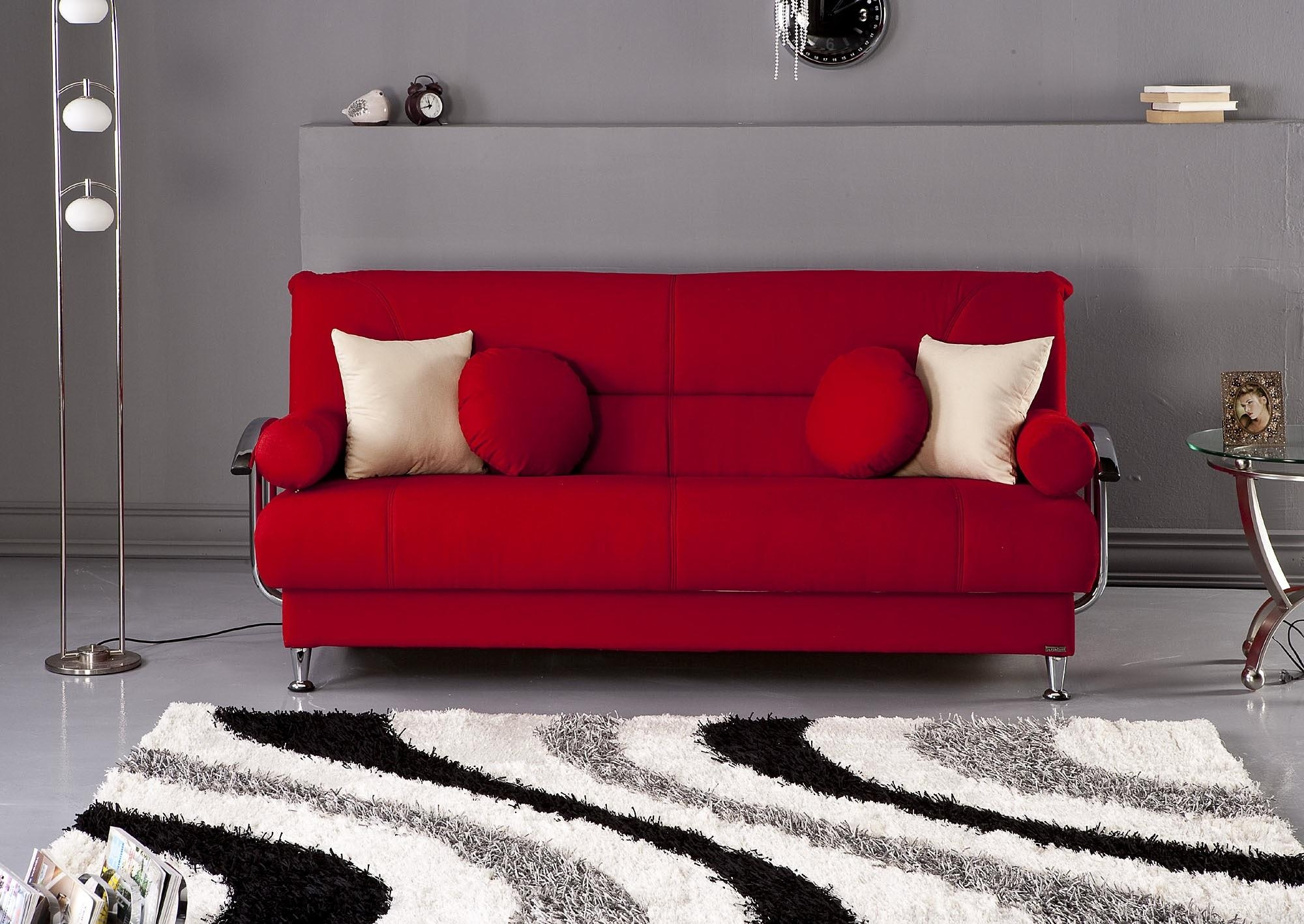 Red Sectional Living Room Ideas – Creditrestore Throughout Red Sofa Tables (Image 9 of 20)
