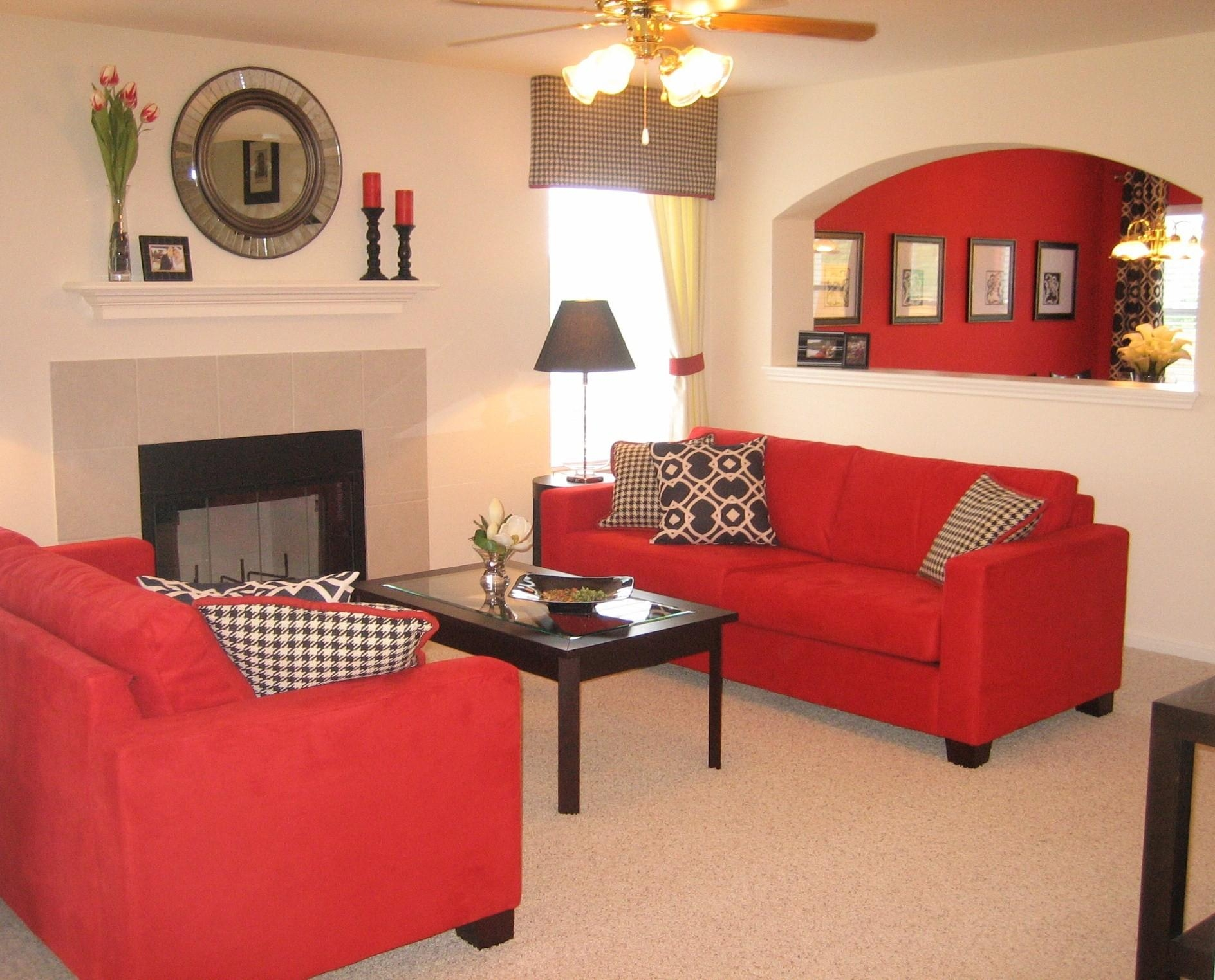 Red Sofa Furniture Elegant Red Living Room (View 19 of 20)