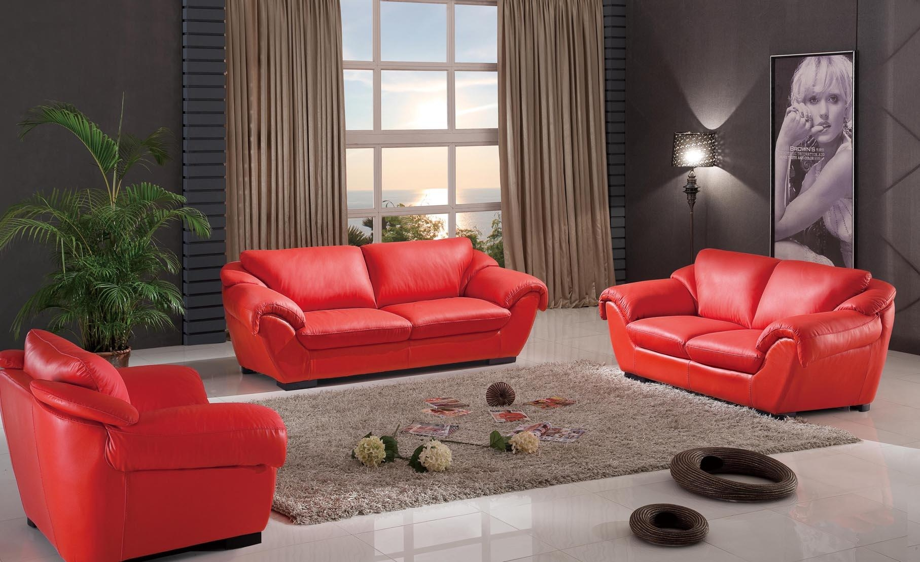 Red Sofa Living Room With Red Sofa Living Room Furniture Ideas 5 Inside Red Sofa Chairs (Image 16 of 20)
