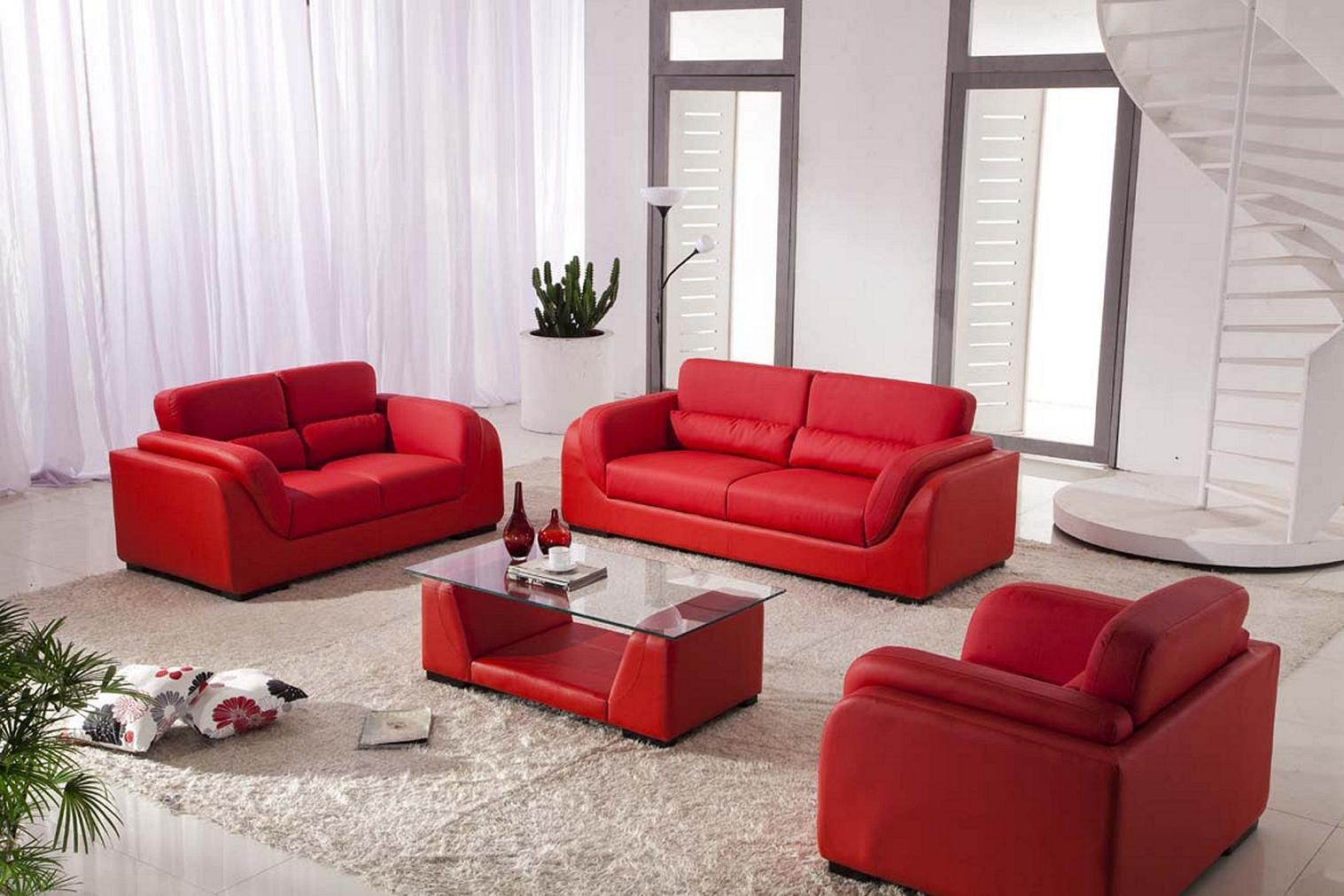 Red Sofa Set. Hurrem Red Sofa Set Living (View 7 of 20)