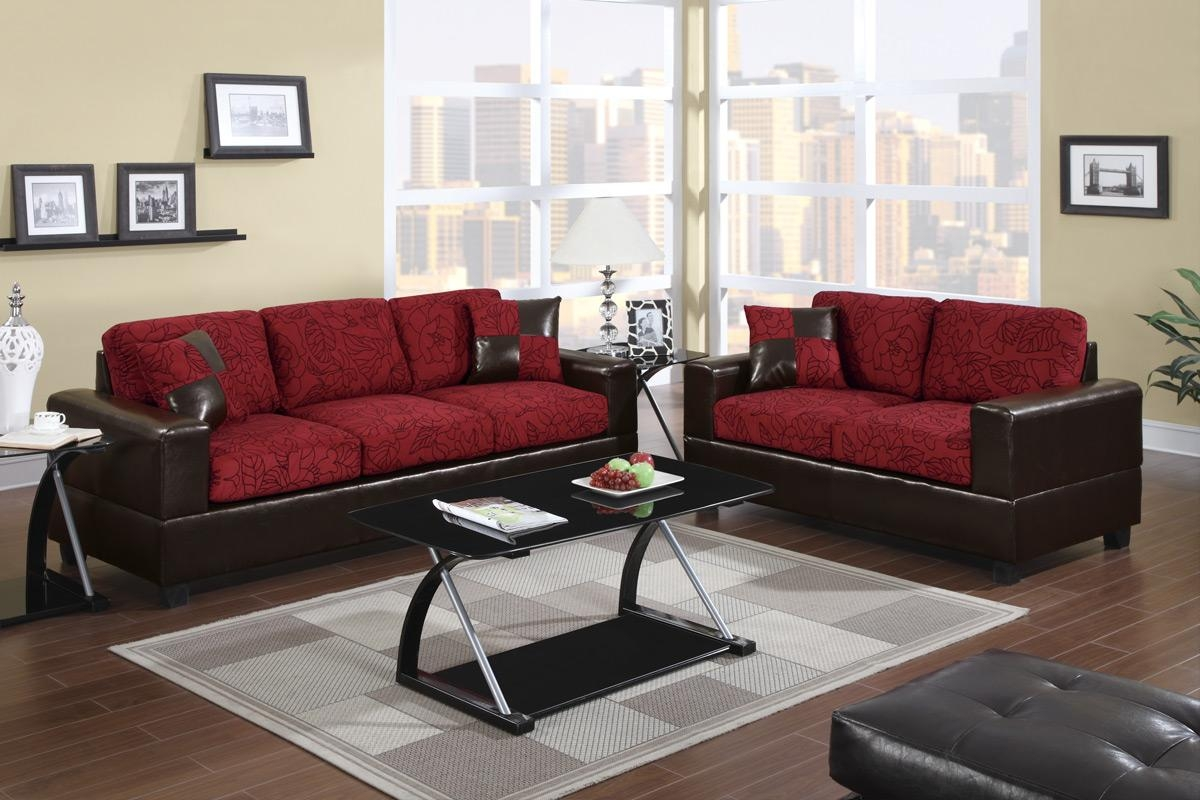 Red Sofa Set in Black and Red Sofa Sets