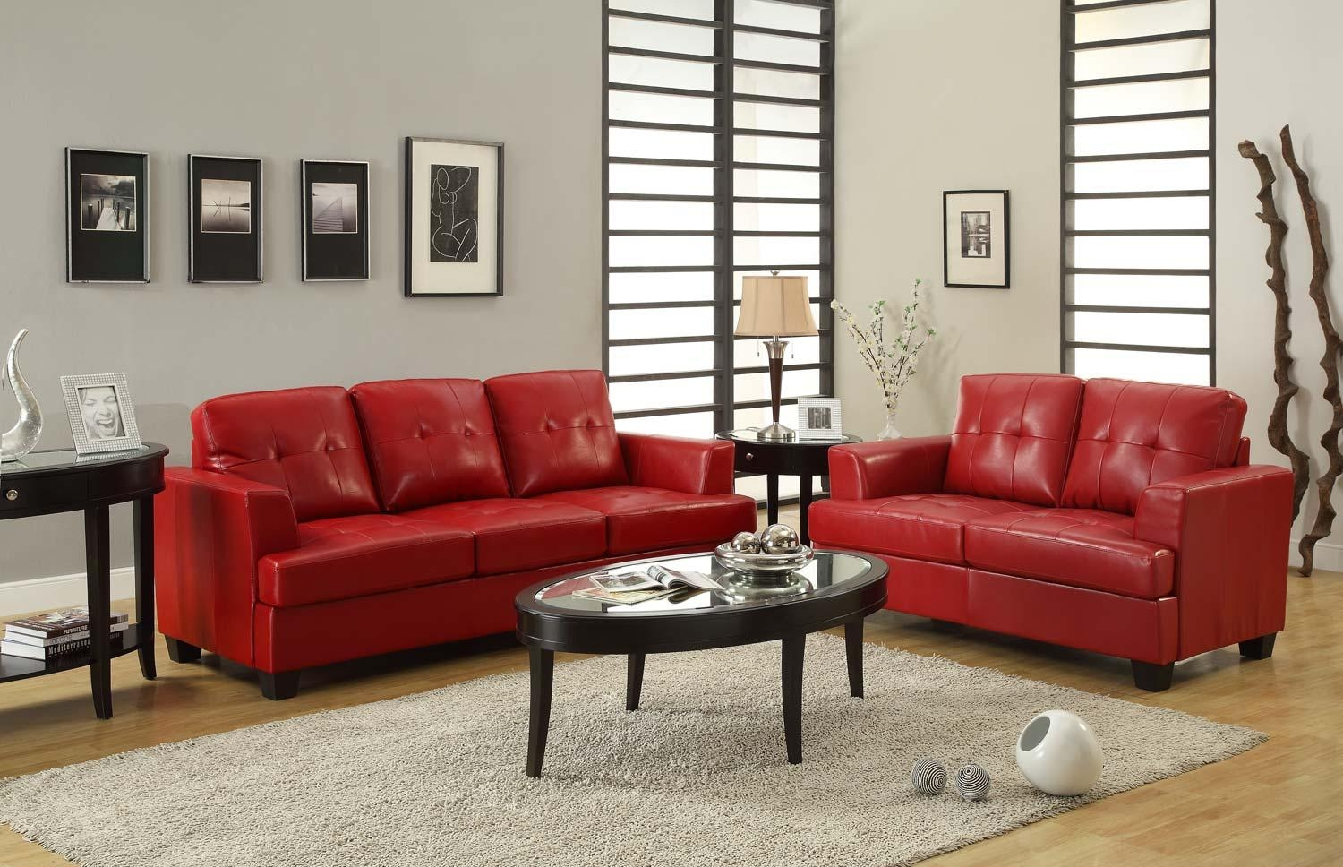 Red Sofa Set In Red Sofas And Chairs (Image 14 of 20)