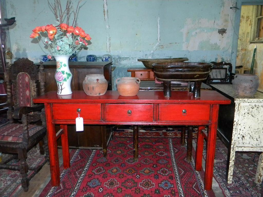 Red Sofa Table Handmade Billings Side Console Table Indonesia Free Regarding Red Sofa Tables (Image 12 of 20)