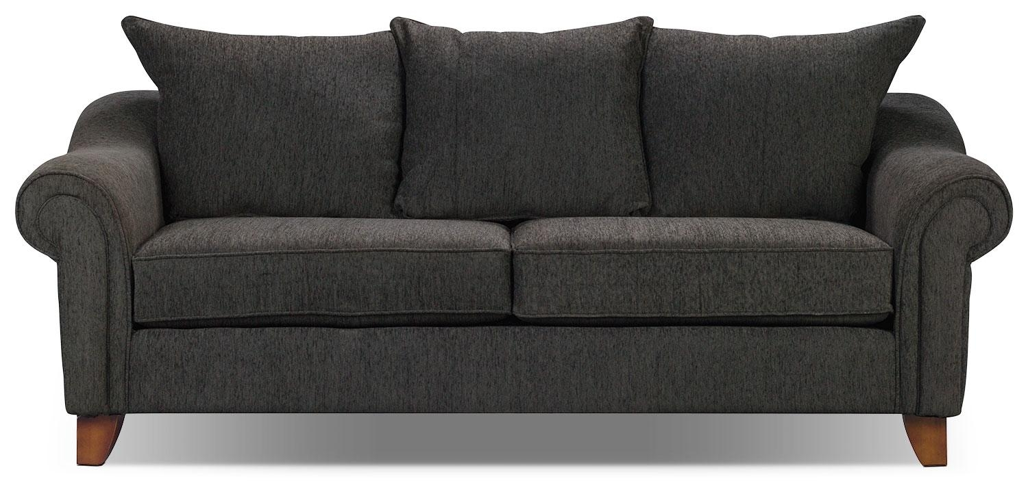 Reese Chenille Sofa – Dark Grey | The Brick Intended For The Brick Leather Sofa (View 17 of 20)