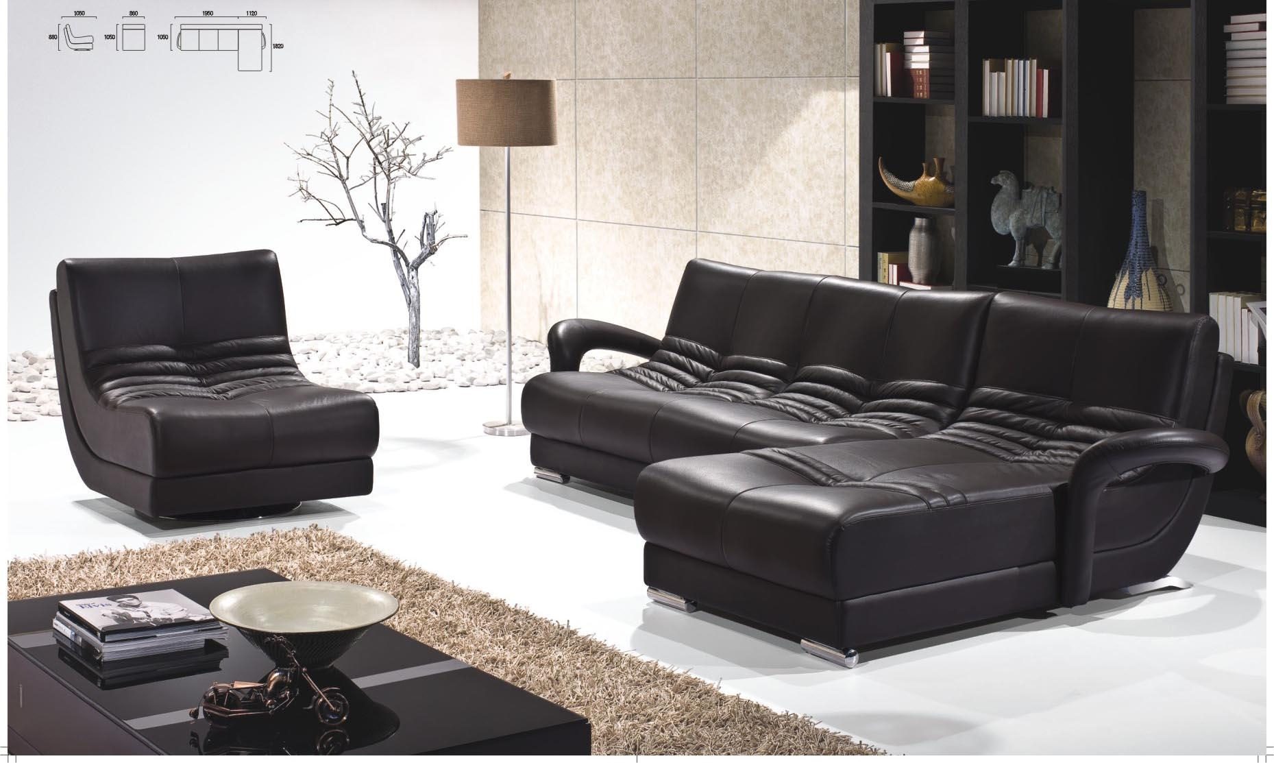 Remarkable Black Leather Living Room Set Ideas – Modern Leather With Contemporary Black Leather Sofas (Image 16 of 20)