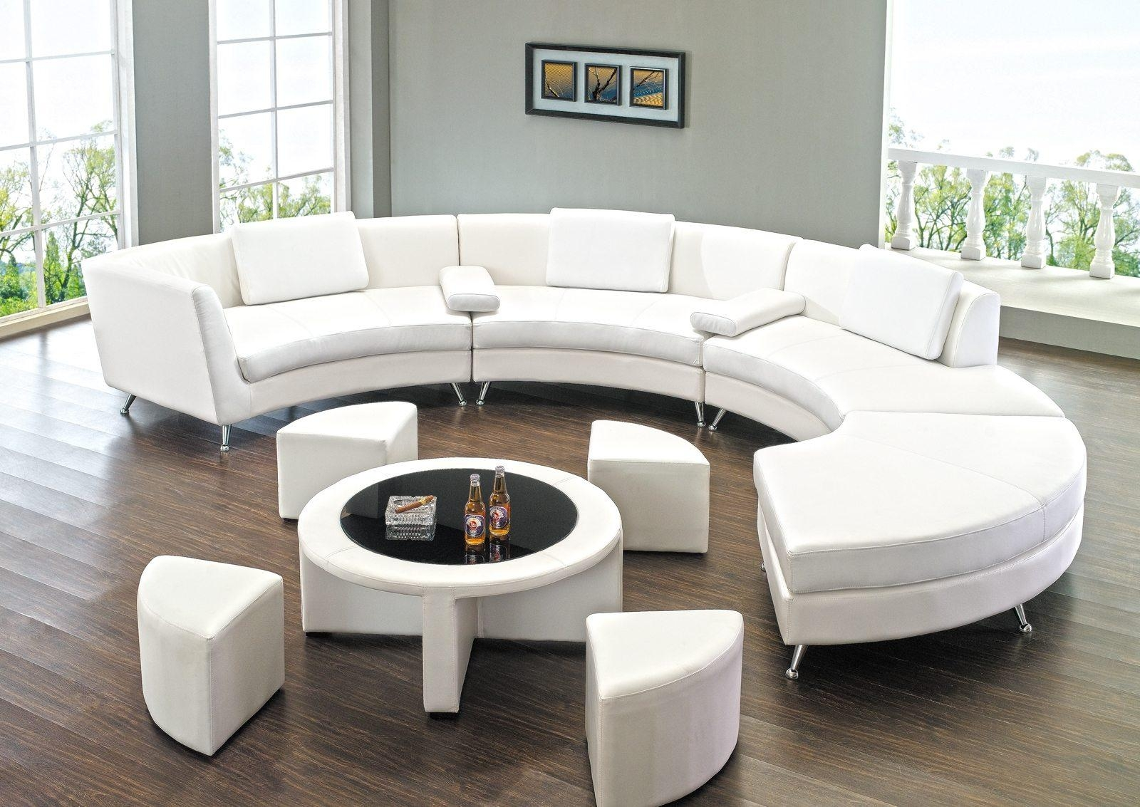 Remarkable Round Sofa With Living Room Curved Couches Round Sofa With Regard To Round Sofas (Image 7 of 20)