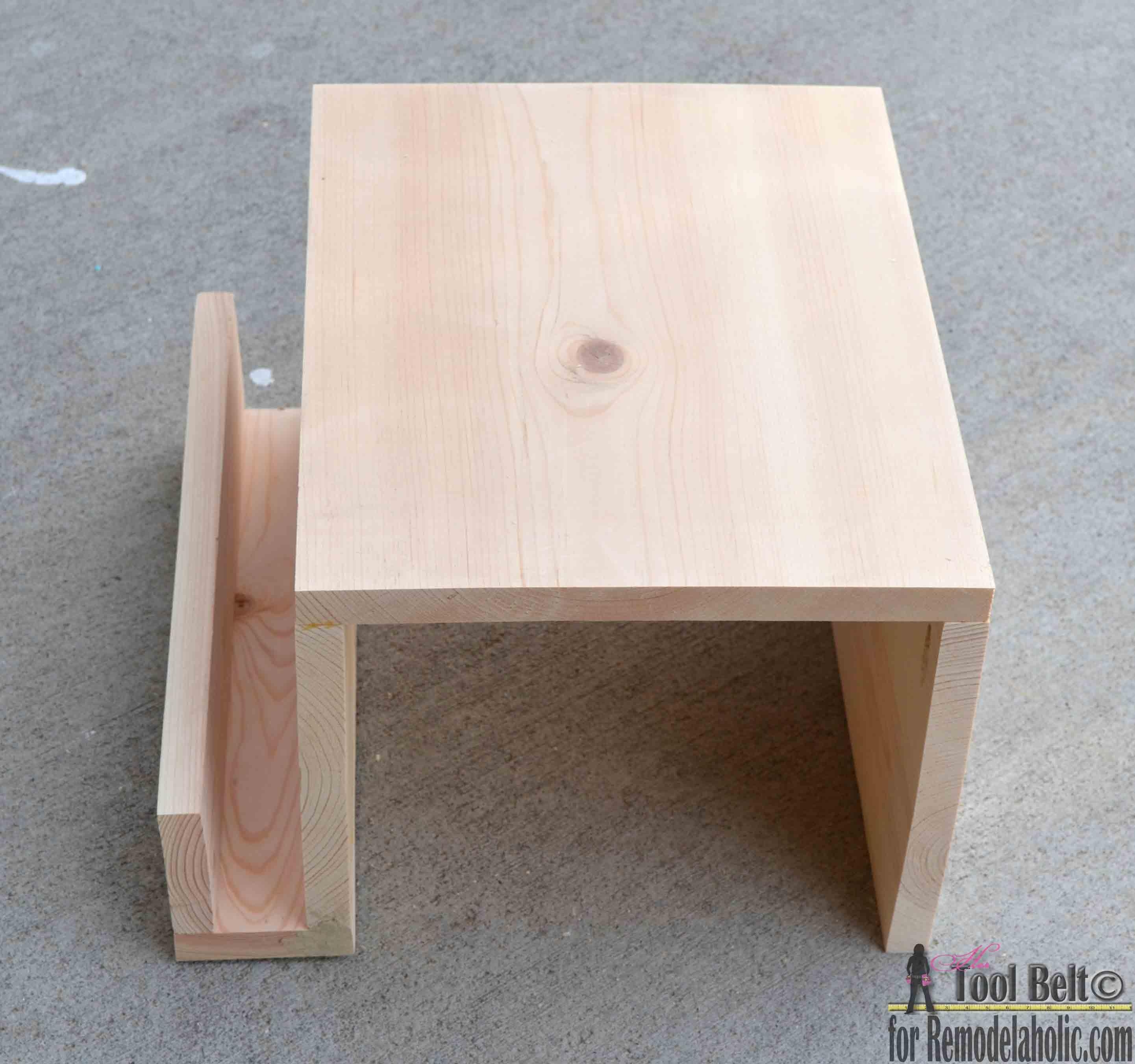 Remodelaholic | Diy Sofa Arm Table Pertaining To Sofa Drink Tables (Image 12 of 20)