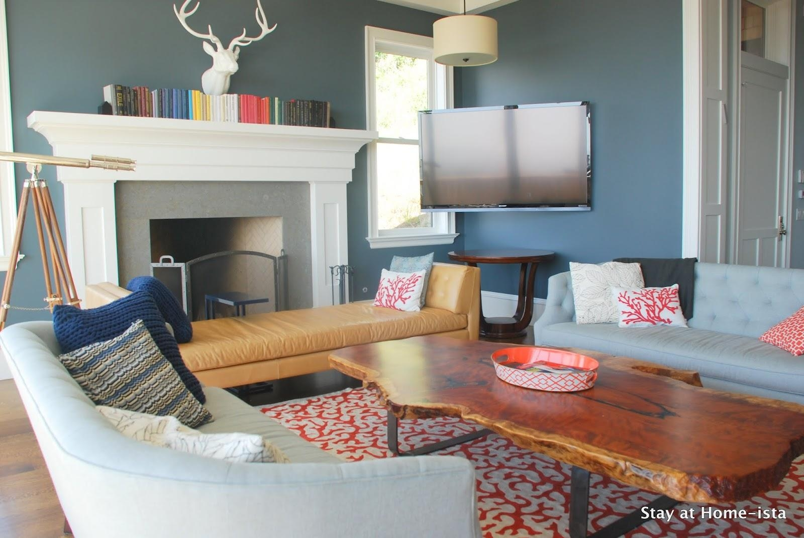 Remodelaholic | Immaculate Living Room Intended For Room And Board Wells Sofas (Image 6 of 20)