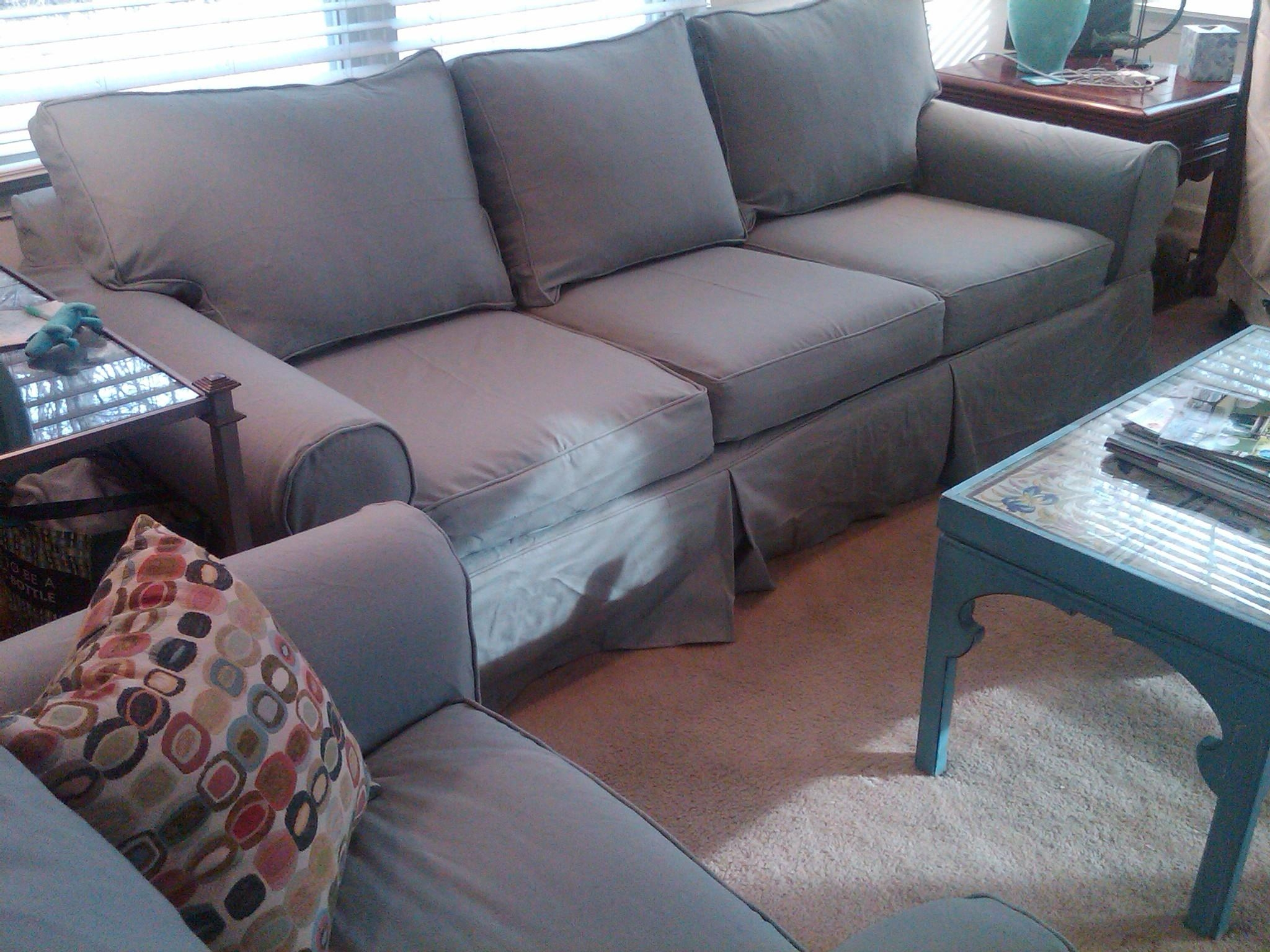 Replacement Slipcover Outlet  Replacement Slipcovers For Famous Intended For Denim Sofa Slipcovers (Image 12 of 20)
