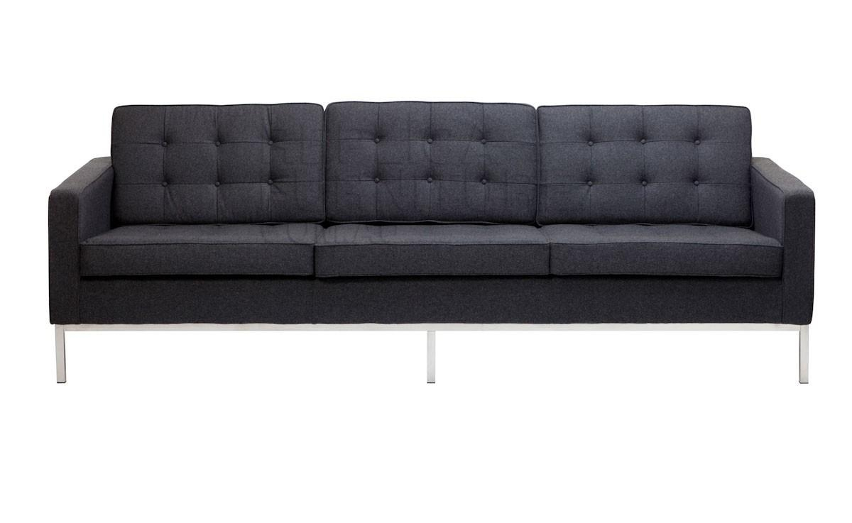 Replica Florence Knoll Wool 3 Seater Sofaflorence Knoll Inside Florence Knoll 3 Seater Sofas (Image 20 of 20)