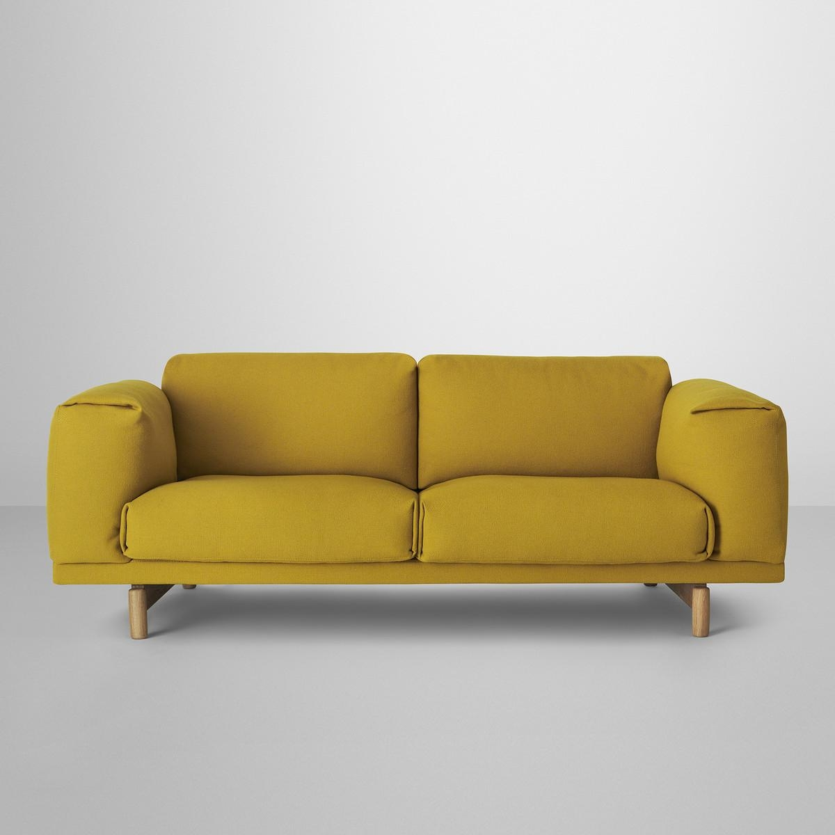 Rest Sofa 2 Seater | Muuto | Connox Shop Within Yellow Sofa Chairs (Image 14 of 20)