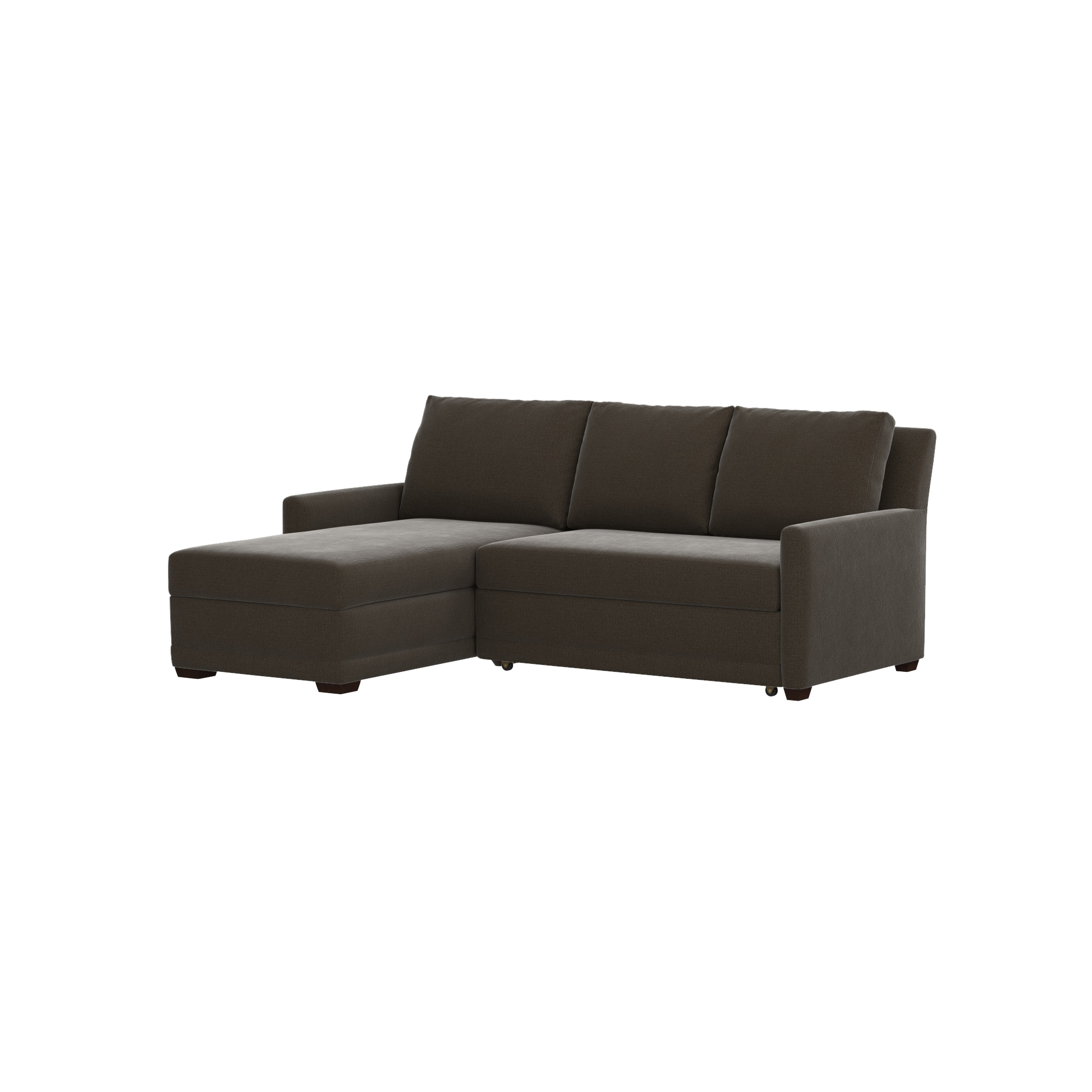 Reston 2 Piece Left Arm Chaise Sleeper Sectional Sofa | Crate And Pertaining To Crate And Barrel Sleeper Sofas (Image 11 of 20)