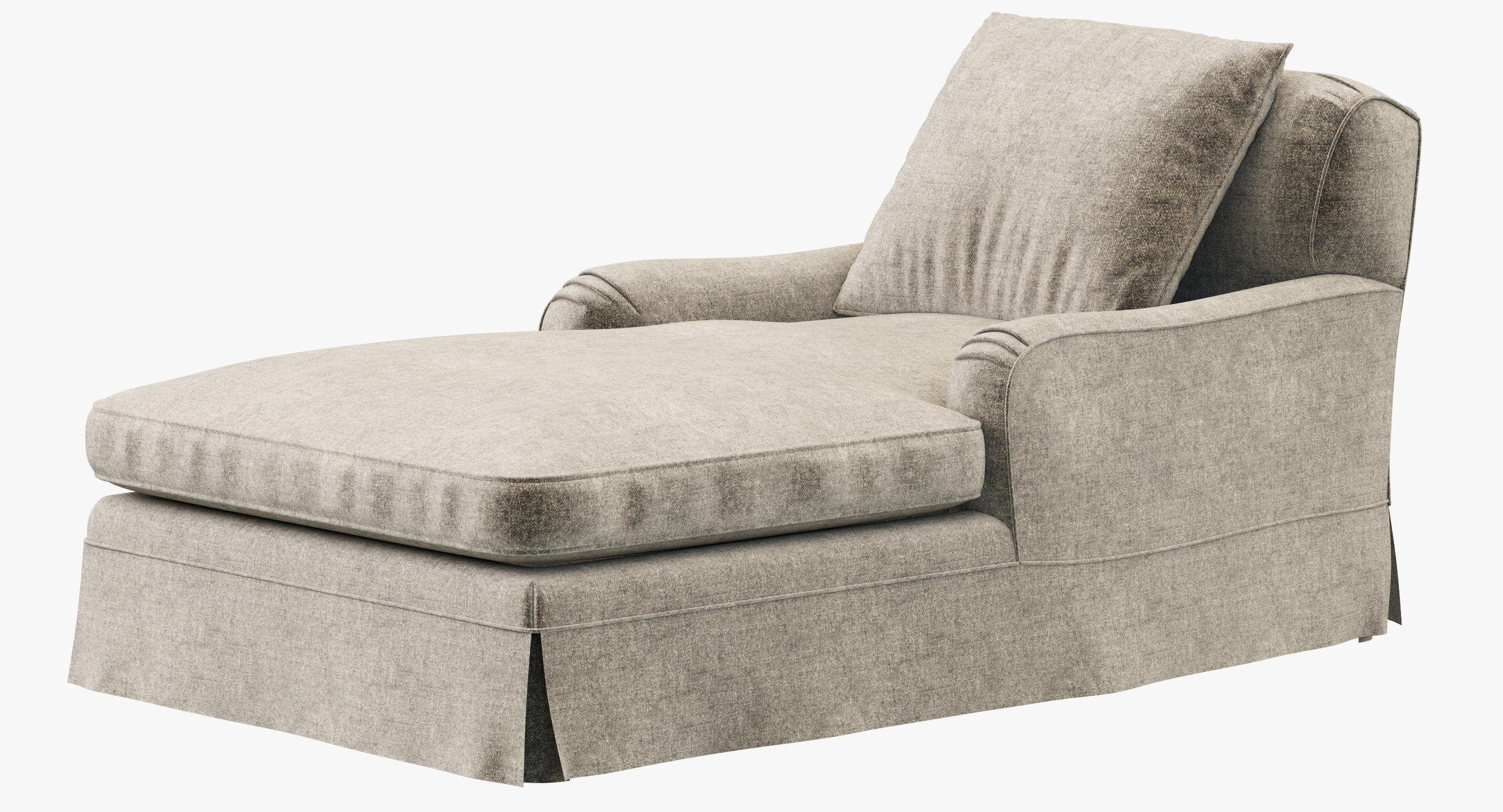 Restoration Hardware Belgian Classic Roll Arm Slipcovered Chaise Intended For Slipcovered Chaises (Image 14 of 20)