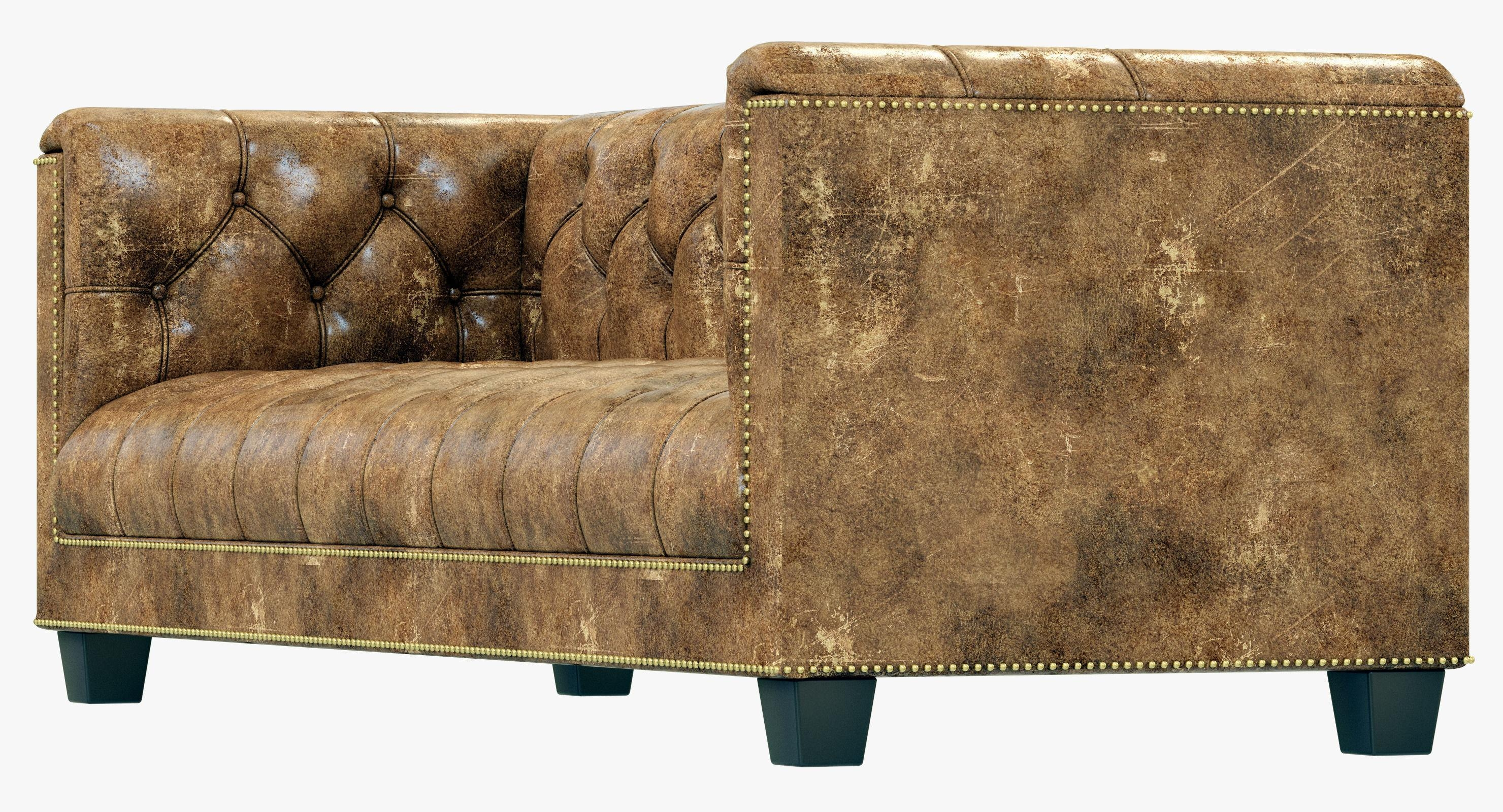 Restoration Hardware Savoy Leather Sofa 3D Model Throughout Savoy Leather Sofas (Image 13 of 20)