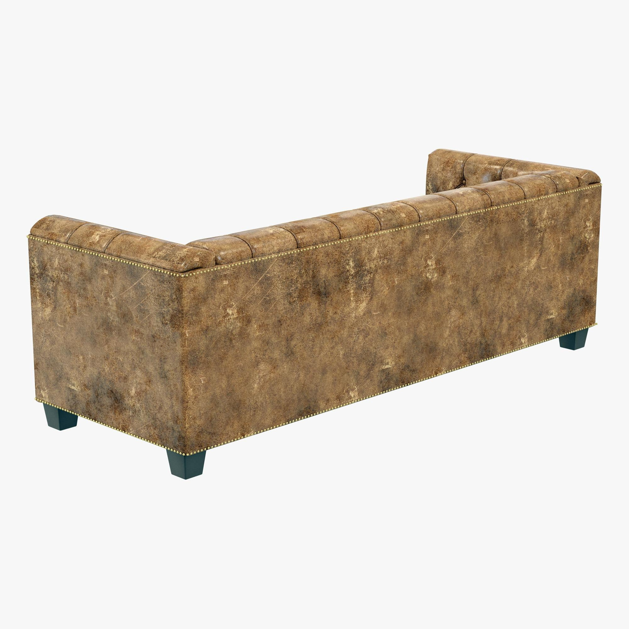 Restoration Hardware Savoy Leather Sofa 3D Model With Regard To Savoy Leather Sofas (Image 14 of 20)
