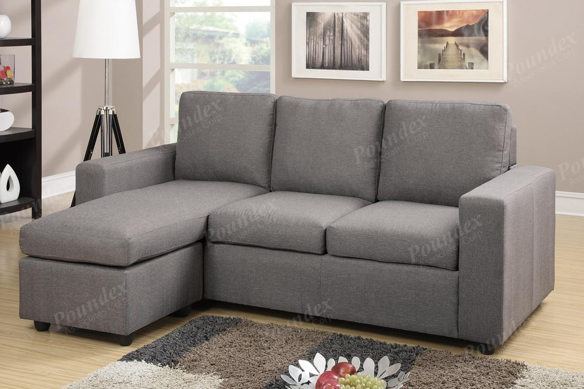 Reversible Sectional | Sectional Sofa | Living Room Furniture Inside Poundex Sofas (View 10 of 20)