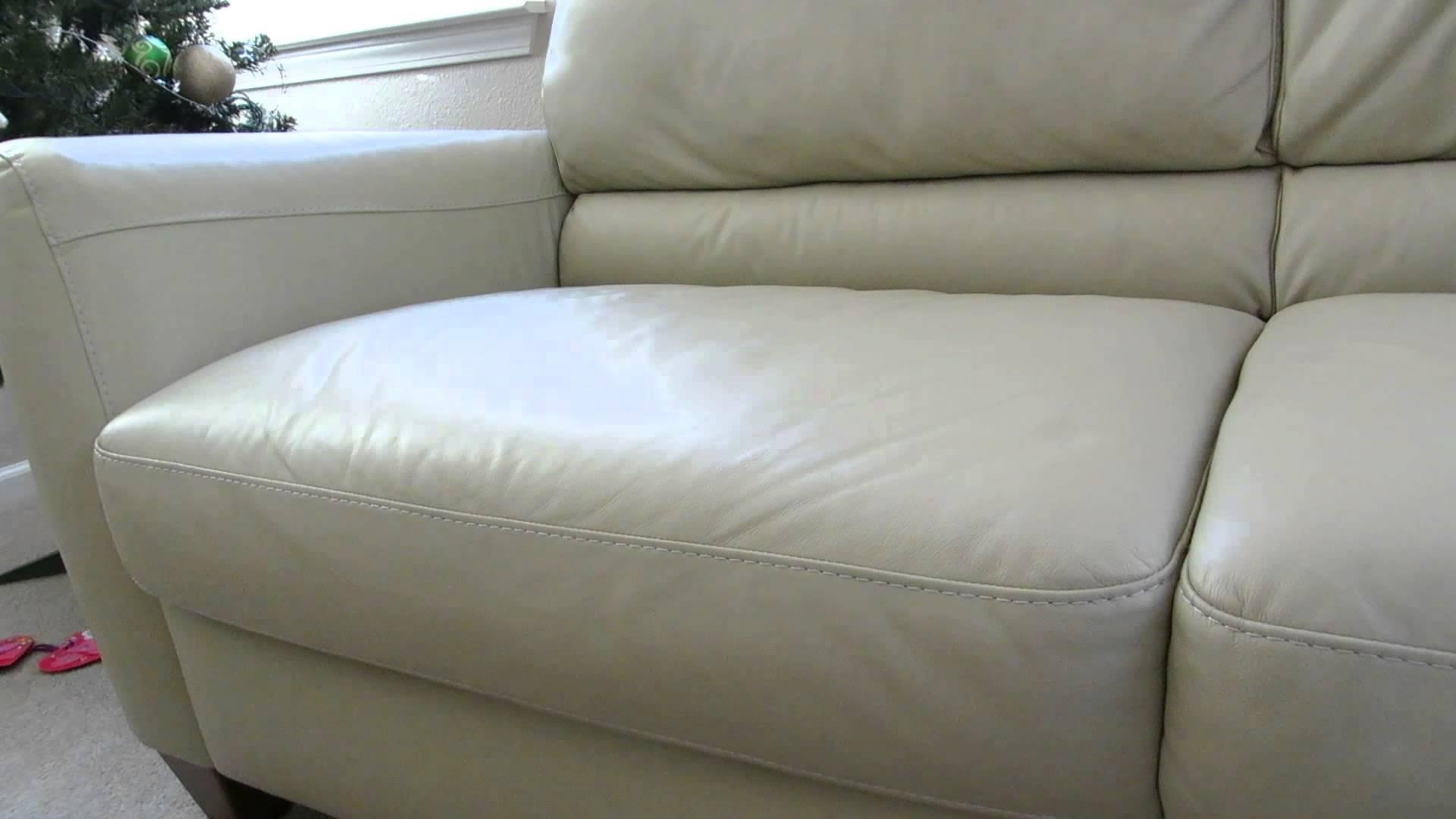 Review Of The Macys Almafi Leather Lime Green Sofa – Youtube Inside Macys Sofas (Image 14 of 20)