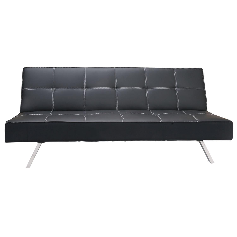 Rialto Faux Leather Futon Sofa Bed : How To Fold Futon Loveseat In Faux Leather Futon Sofas (Image 13 of 20)