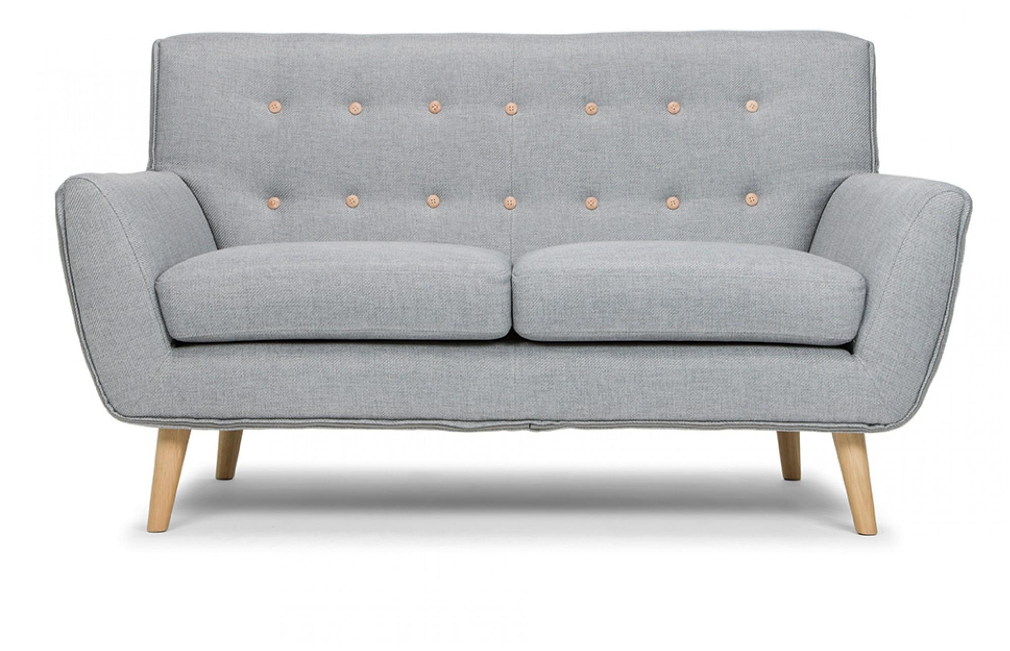 Richard 2 Seater Sofa In Stone Grey – Out And Out Original Regarding Two Seater Sofas (Image 16 of 20)