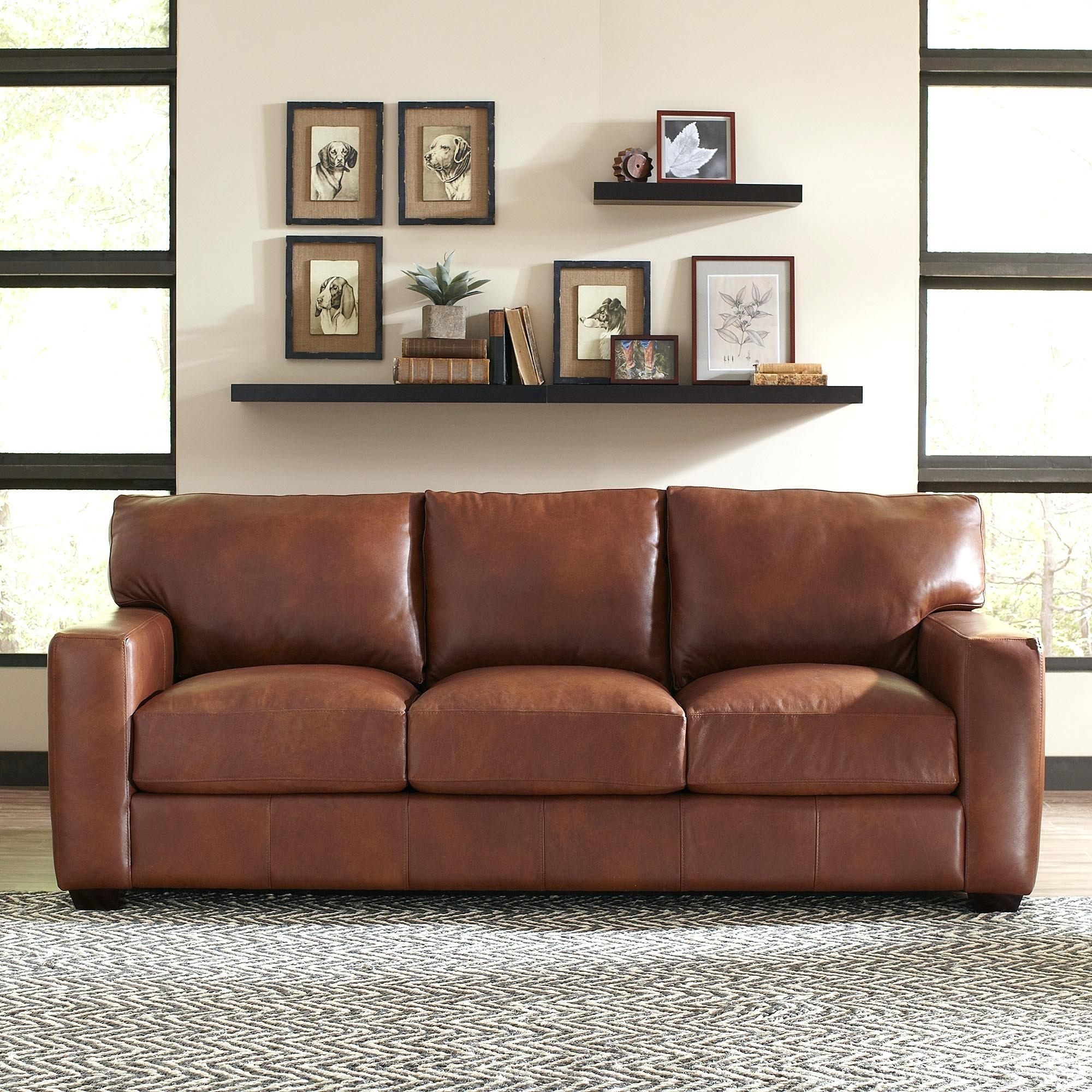 Richmond Leather Sofa Birch Lanetrade Pratt High Back Sofas For Richmond Sofas (Image 11 of 20)