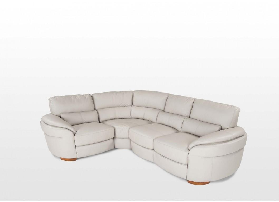 Right Arm Grey Leather Corner Sofa – Aspen With Regard To Aspen Leather Sofas (View 18 of 20)