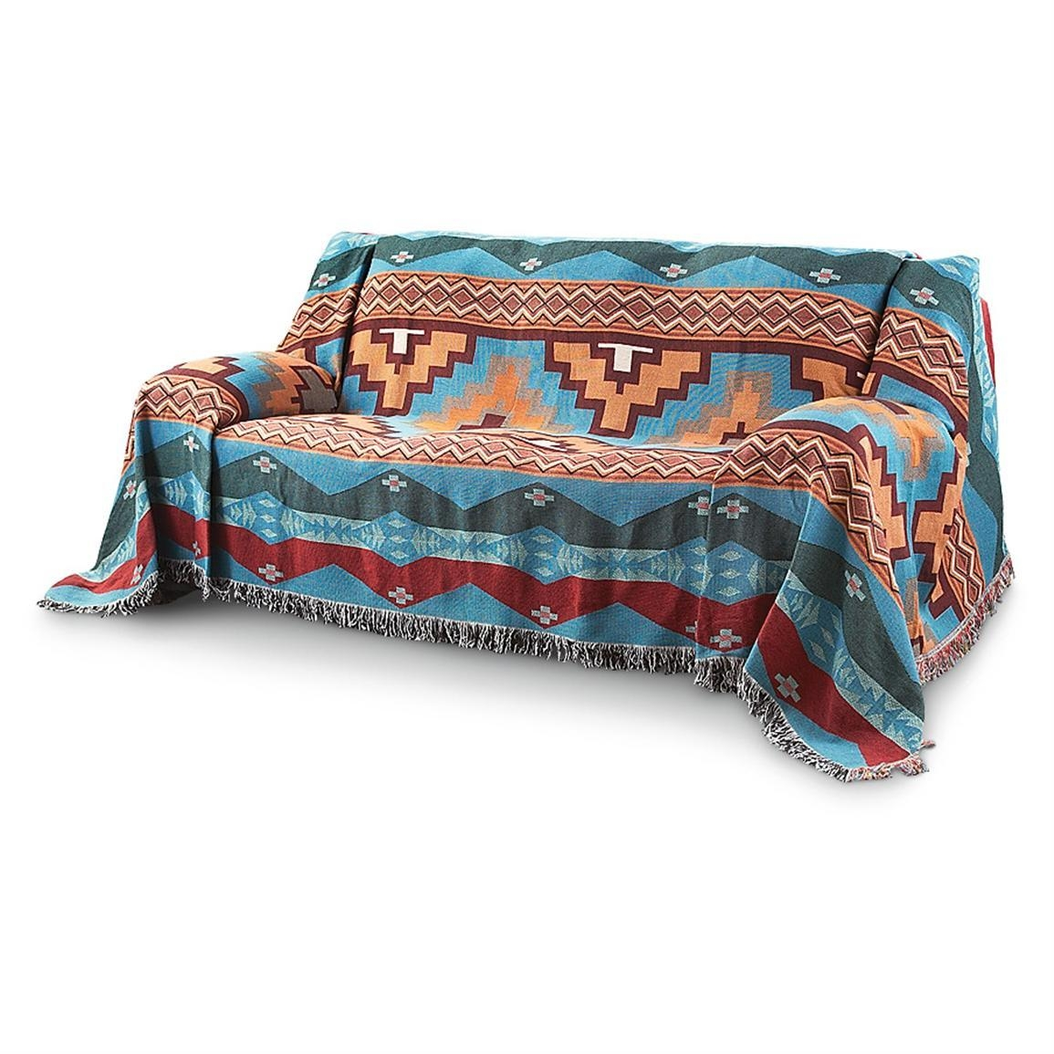 River Canyon Furniture Throw – 166656, Furniture Covers At In Turquoise Sofa Covers (Image 19 of 20)