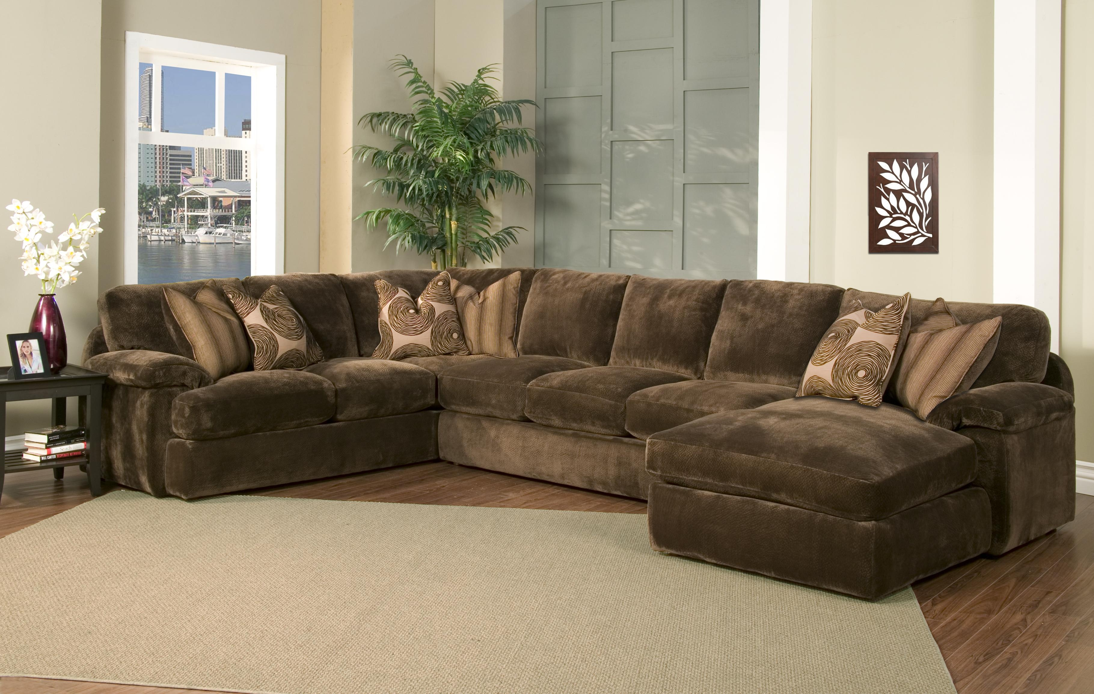 2017 Latest Chocolate Brown Sectional