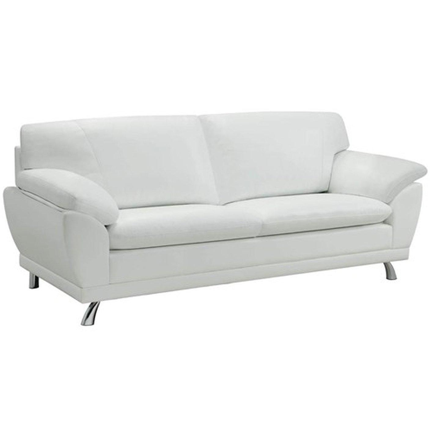 Robyn White Leather Sofa – Steal A Sofa Furniture Outlet Los Regarding White Leather Sofas (View 11 of 20)