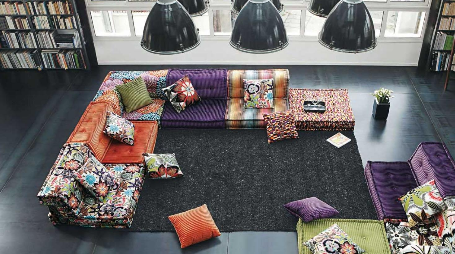 Roche Bobois Stylish And Functional Mah Jong Modular Sofas Within Mahjong Sofas (Image 14 of 20)