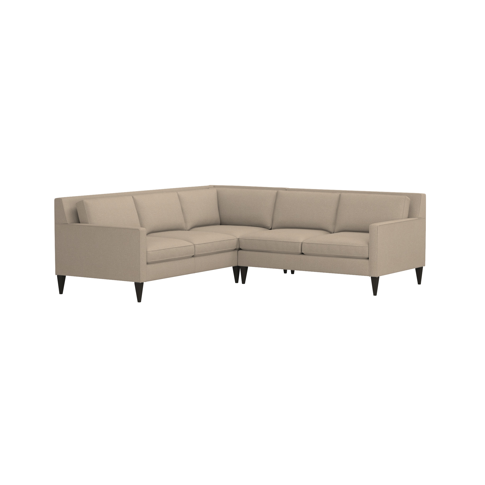 Rochelle 2 Piece Sectional Sofa | Crate And Barrel For Sectional Crate And Barrel (Image 17 of 20)