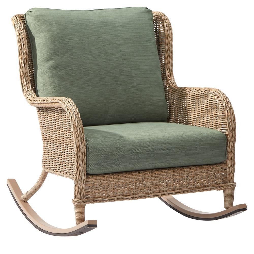 Rocking Chairs – Patio Chairs – The Home Depot Pertaining To Rocking Sofa Chairs (Image 12 of 20)
