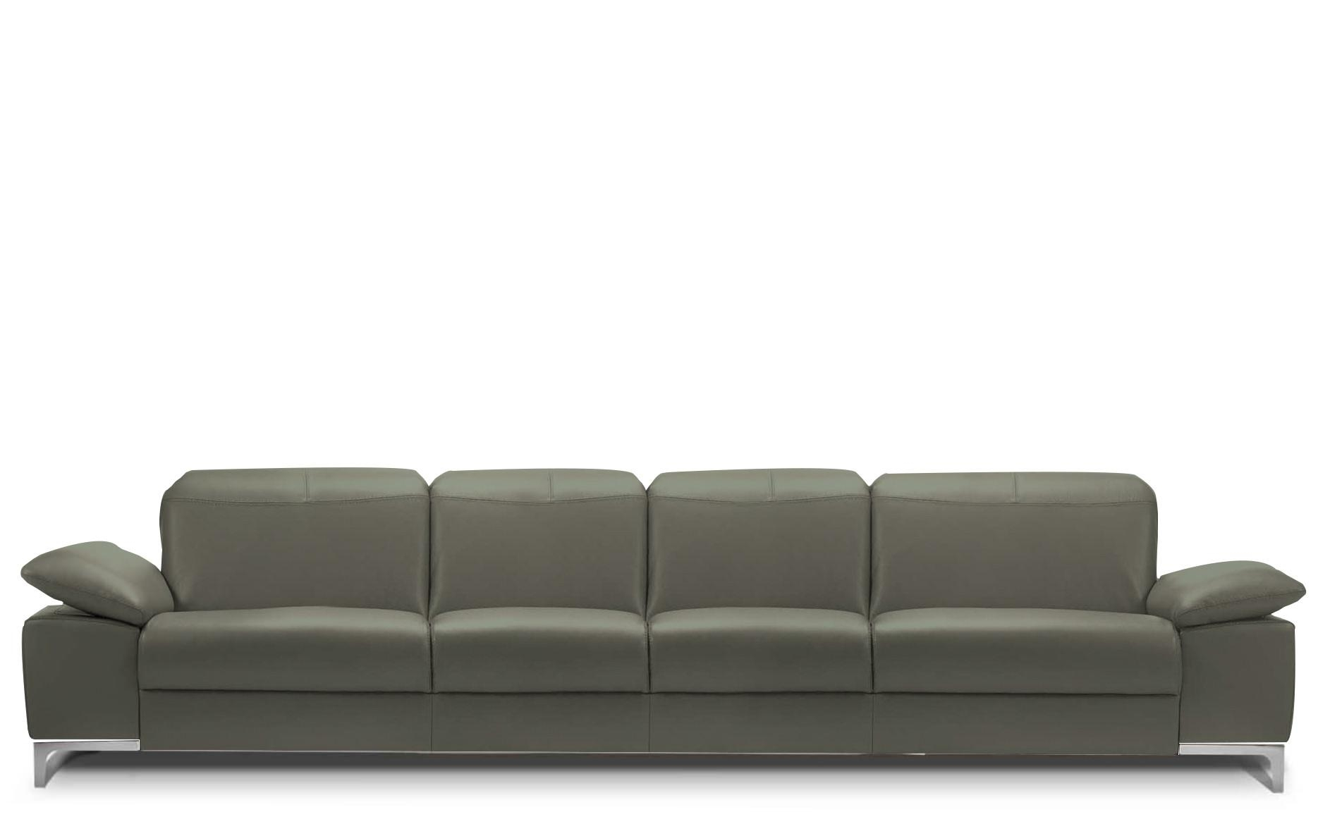 Rom Chronos 4 Seater Leather Sofa | Buy At Kontenta Regarding 4 Seat Sofas (Image 19 of 20)