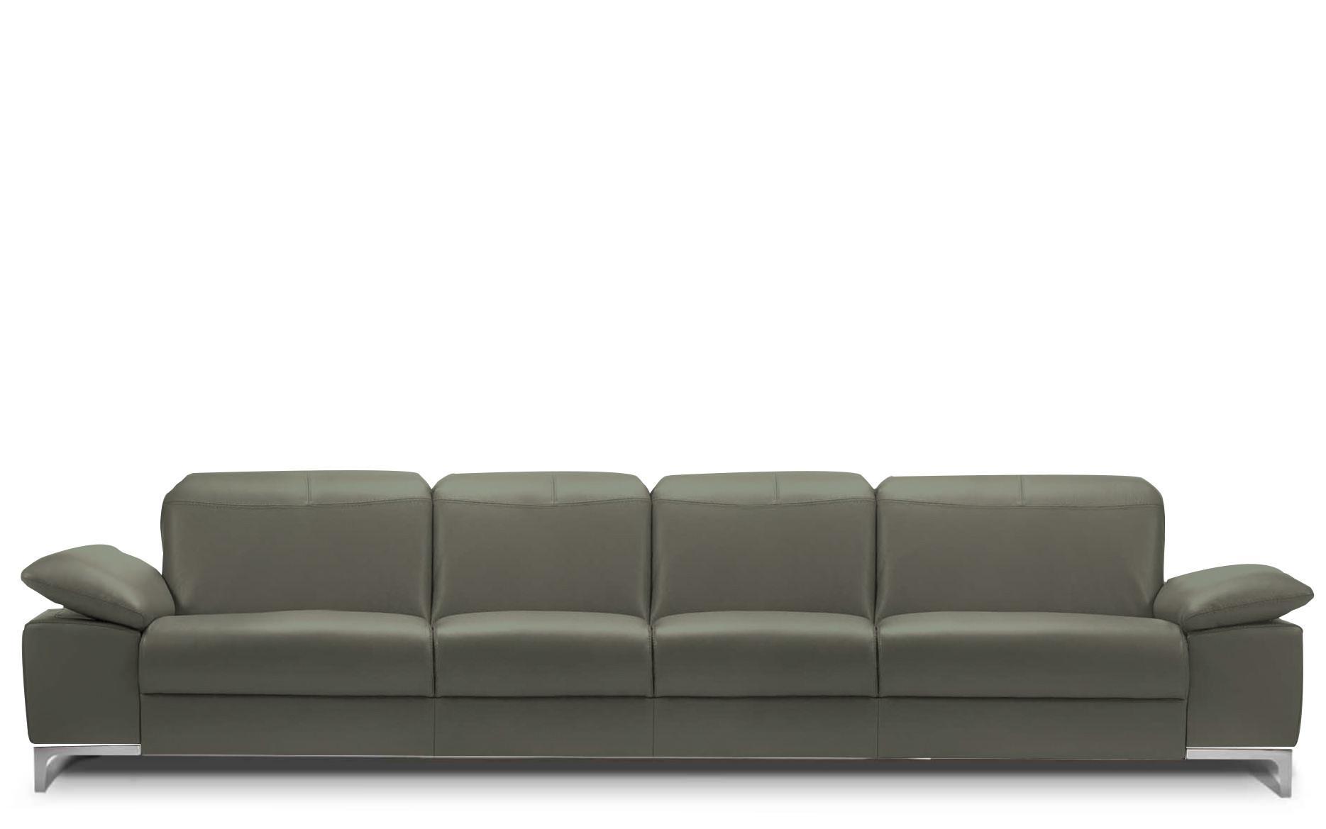 Rom Chronos 4 Seater Leather Sofa At Kontenta Throughout Seat Sofas