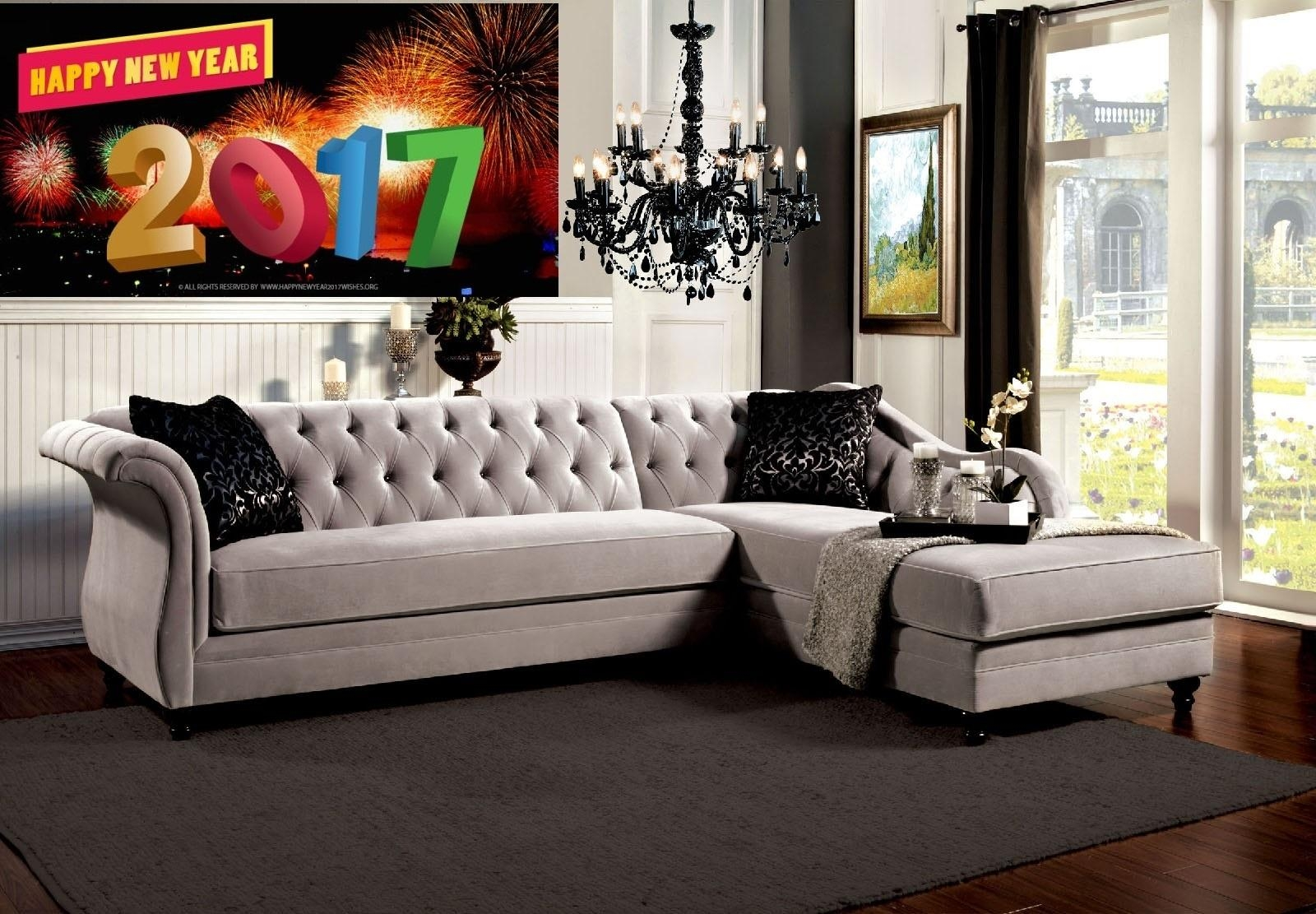 "Rotterdam French Style Warm Grey ""l"" Shape Sectional + Chaise Regarding French Style Sofas (Image 16 of 20)"