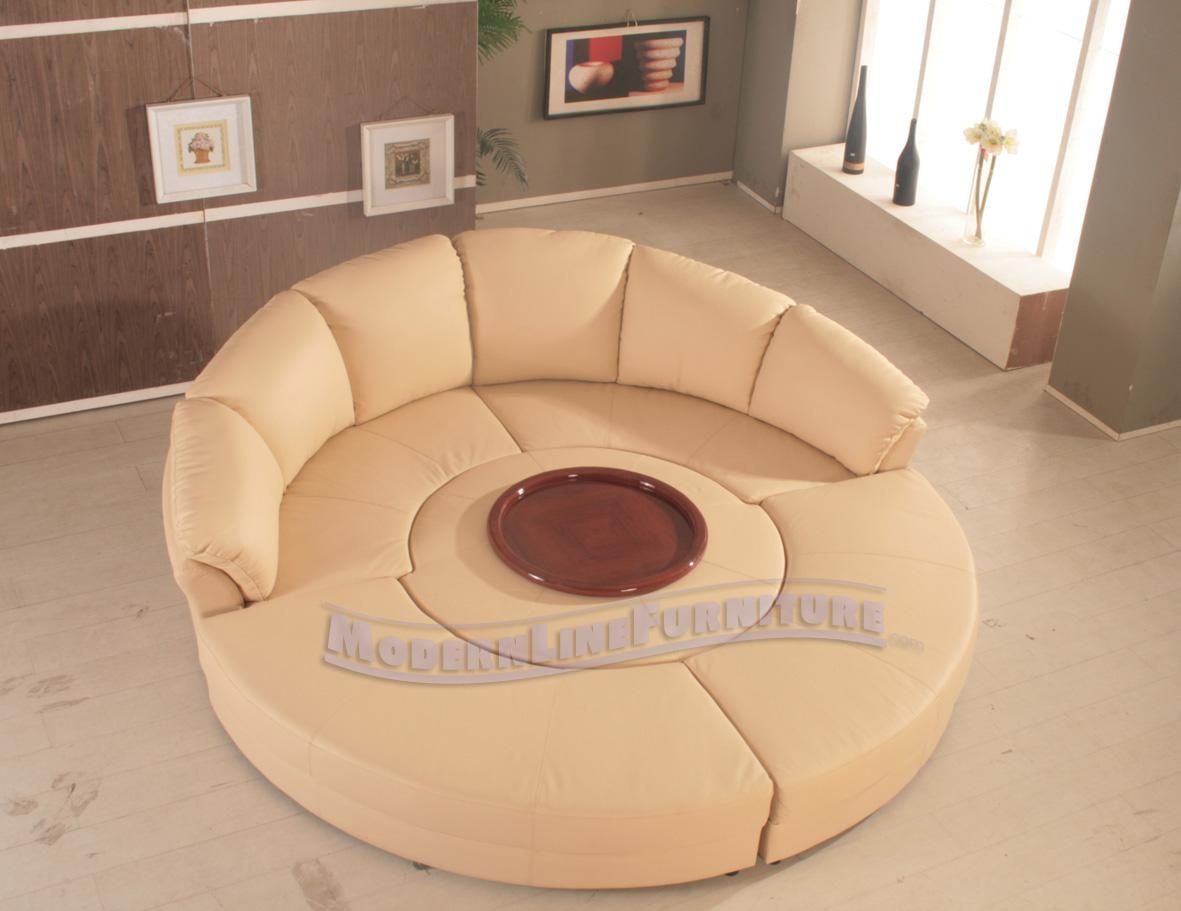 Round Sectional Sofa Bed – Leather Sectional Sofa Throughout Round Sectional Sofa (Image 14 of 20)