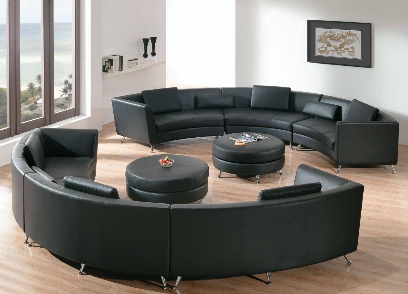Round Sectional Sofa For Unique Seating Alternative – Traba Homes Inside Circle Sofa Chairs (View 15 of 20)