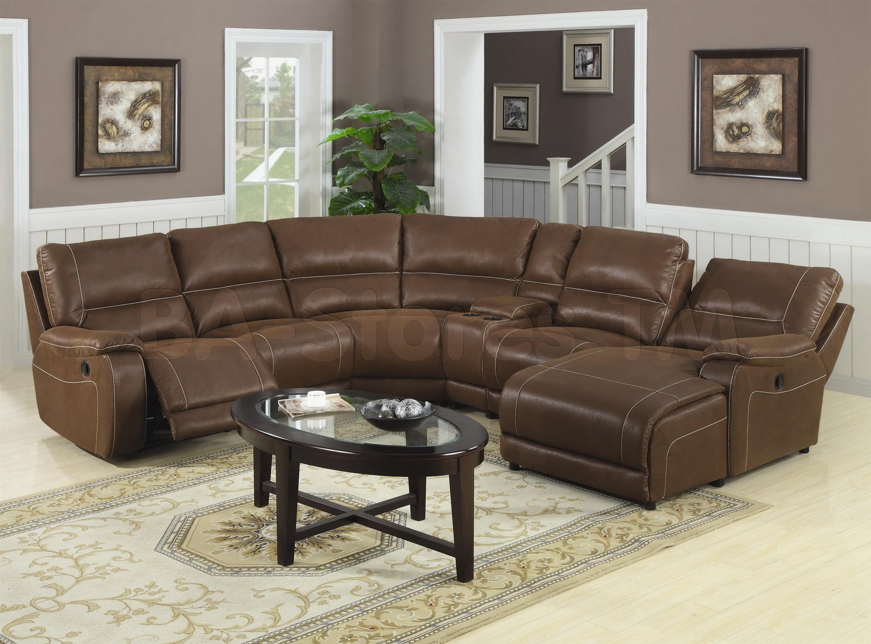 Round Sectional Sofa Leather | Tehranmix Decoration With Regard To Chocolate Brown Sectional With Chaise (Image 12 of 15)